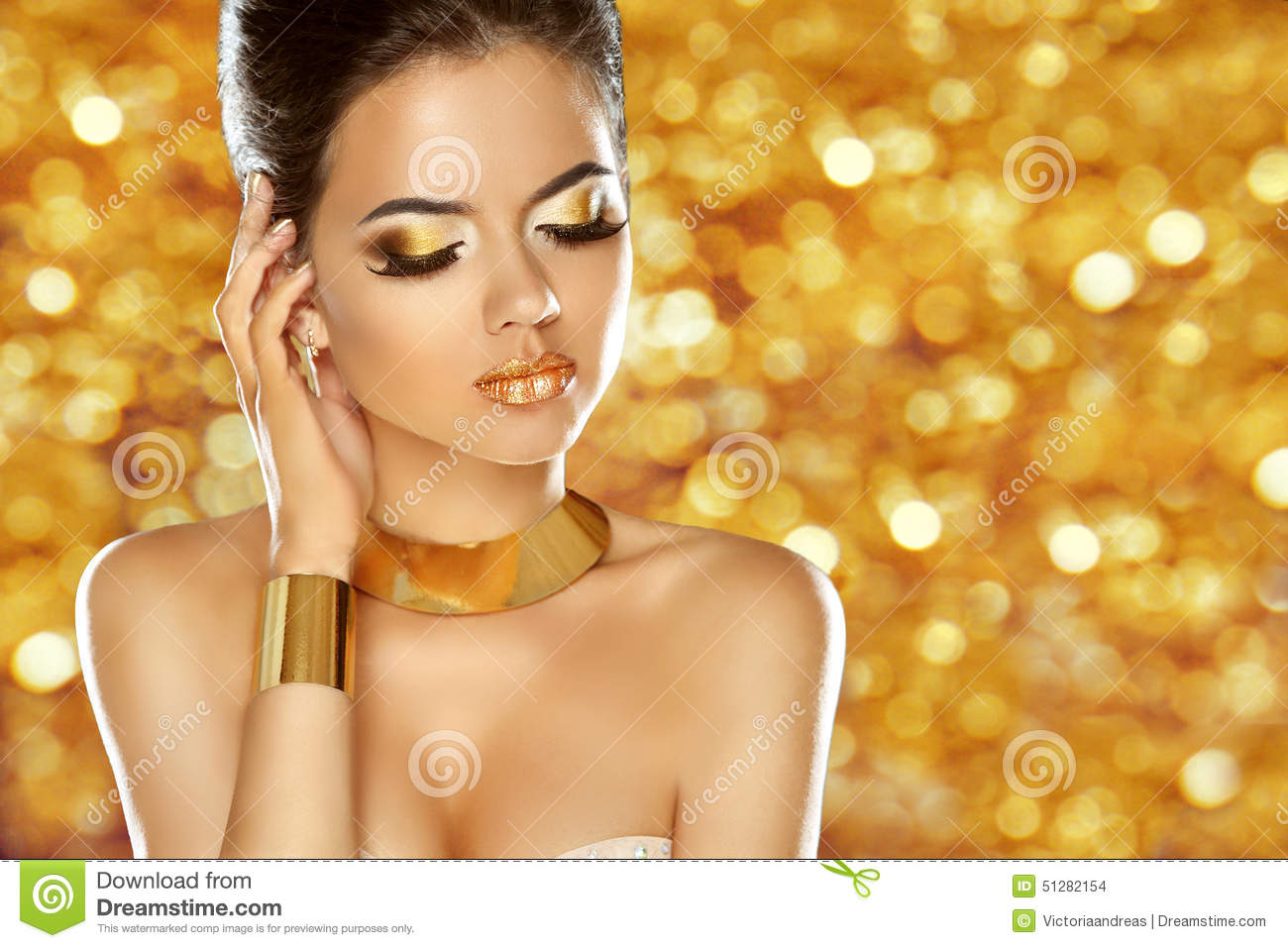Accessories, Jewelry. Glamour Fashion Beauty Model Stock