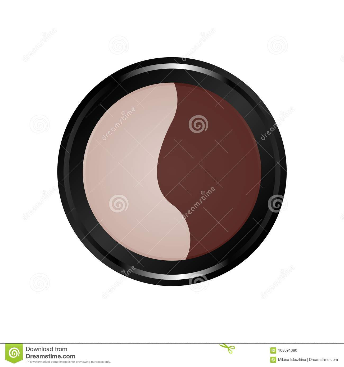 Makeup kit color icon. Cosmetic.