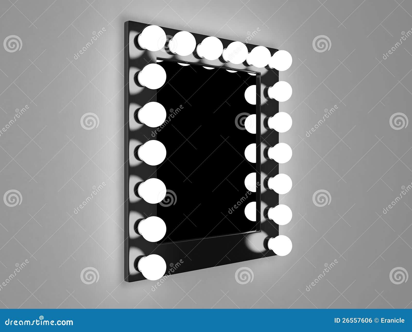 Makeup mirror stock illustration. Image of wall, illuminated - 26557606