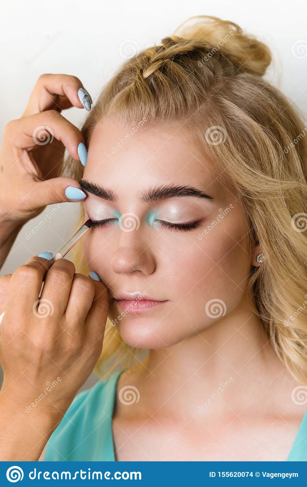 Makeup Model In Beauty Saloon Stock Photo Image Of Complexion Glamour 155620074