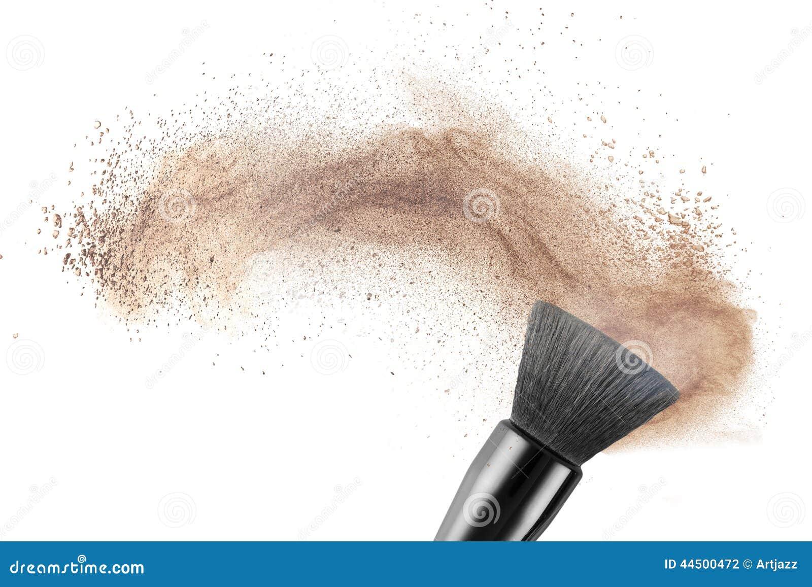 Makeup muśnięcie z prochową podstawą odizolowywającą