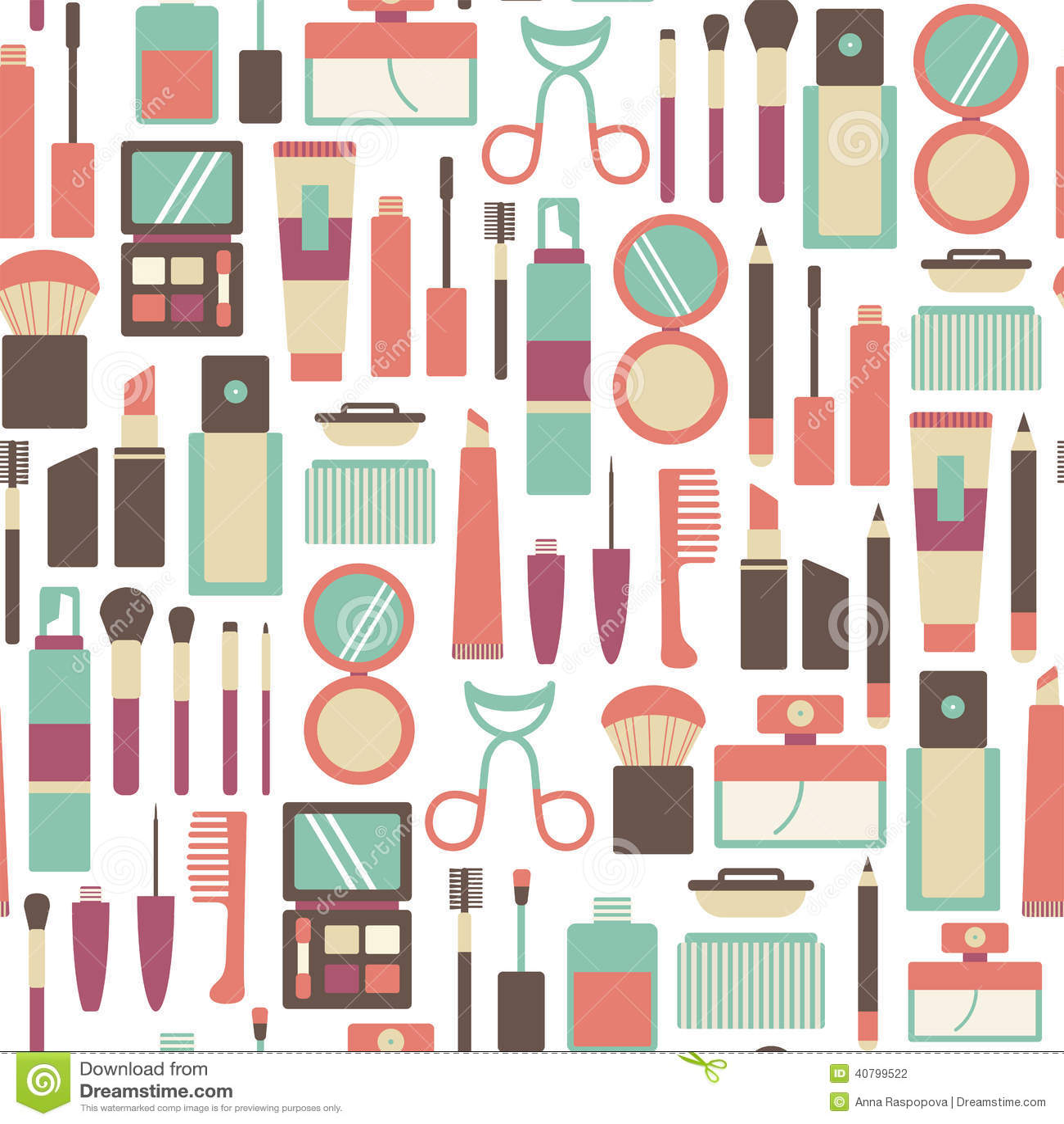 Makeup Pattern Stock Photo Image 40799522