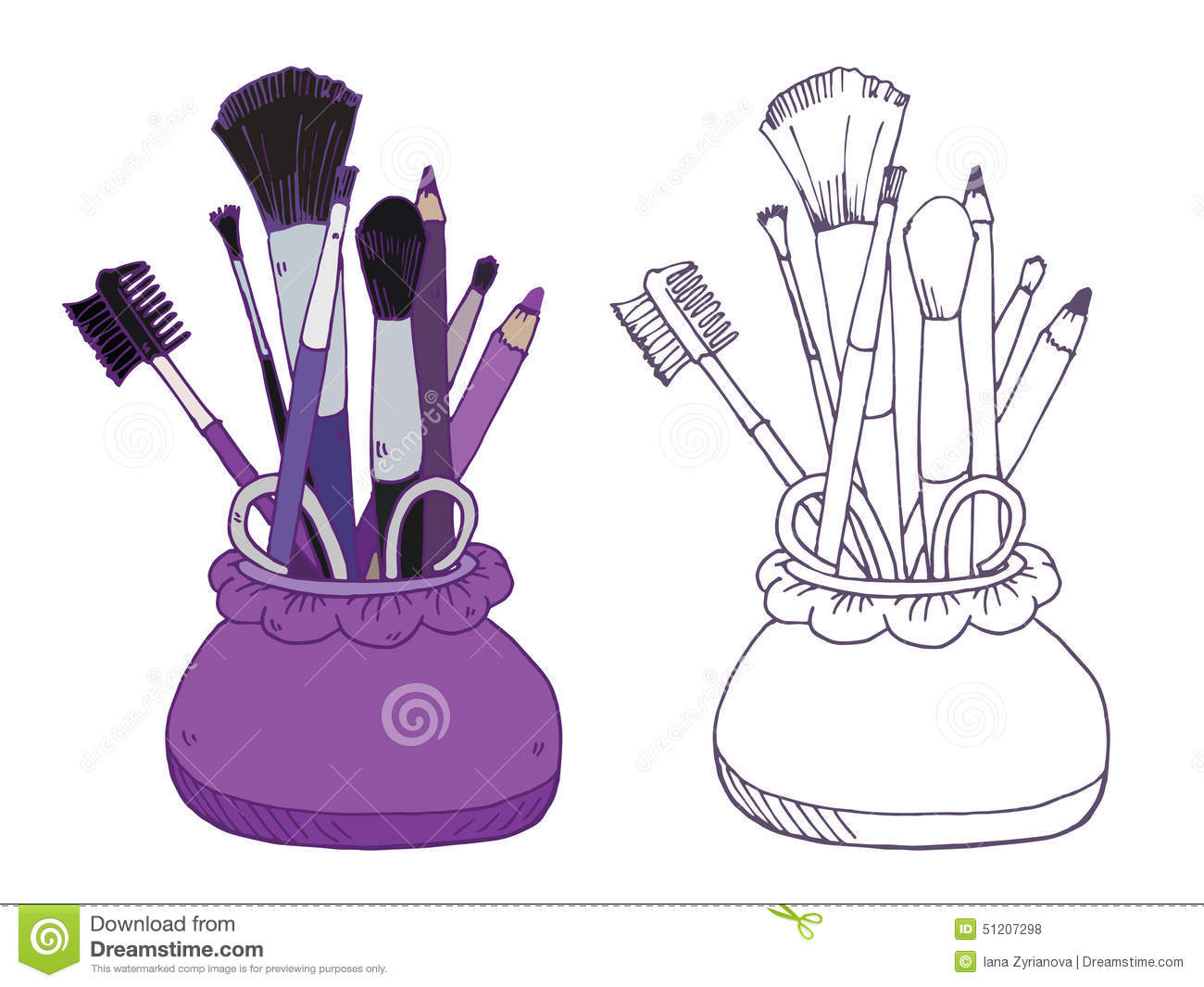 Makeup Products Vector Illustration Stock Vector
