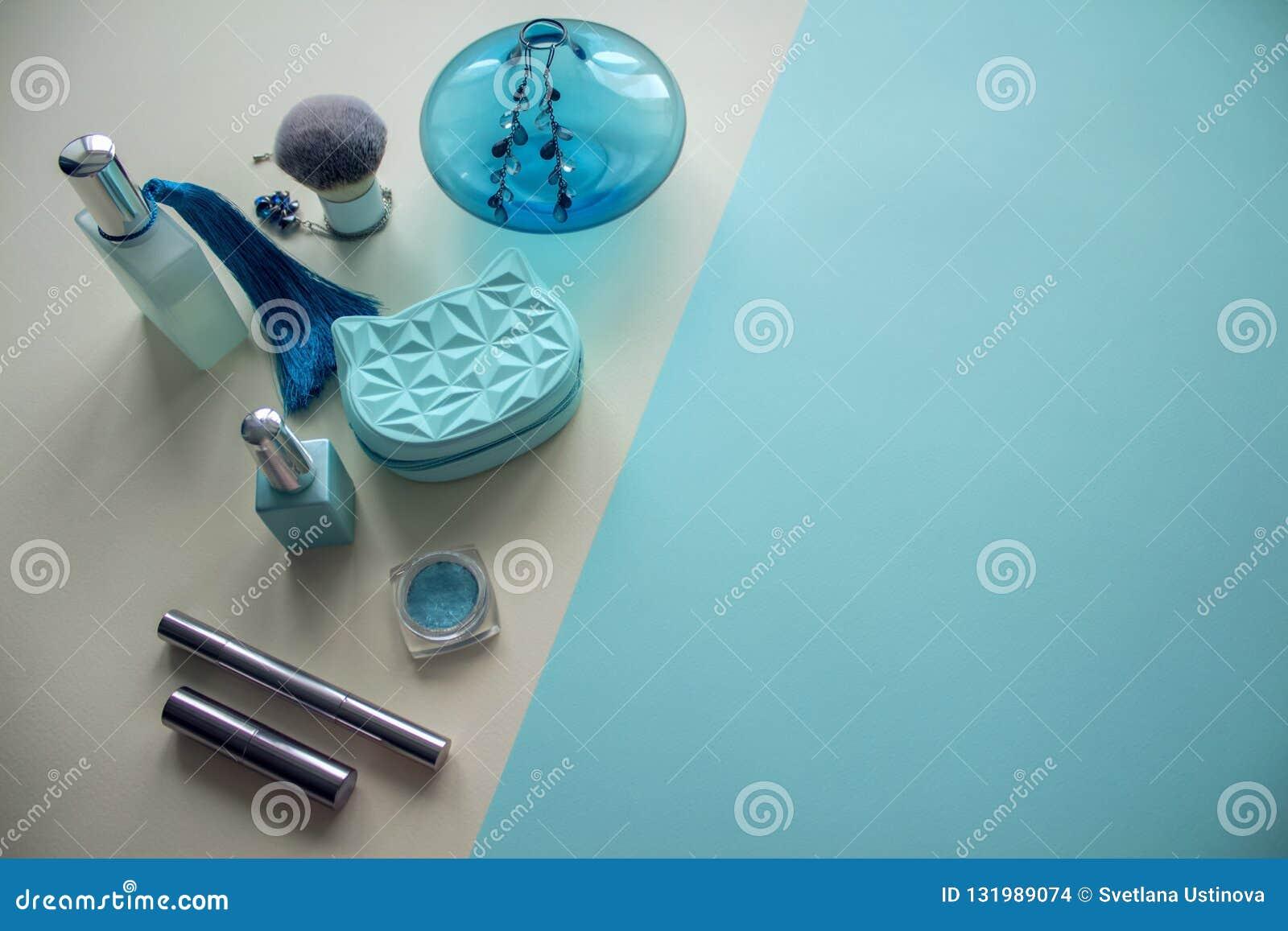 Makeup produktów odgórny widok