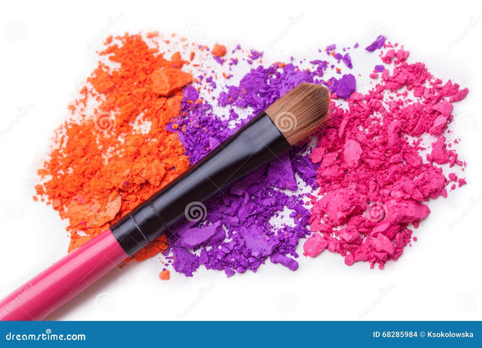 Makeup Shadows And Brush Stock Photo Image Of Brown 68285984