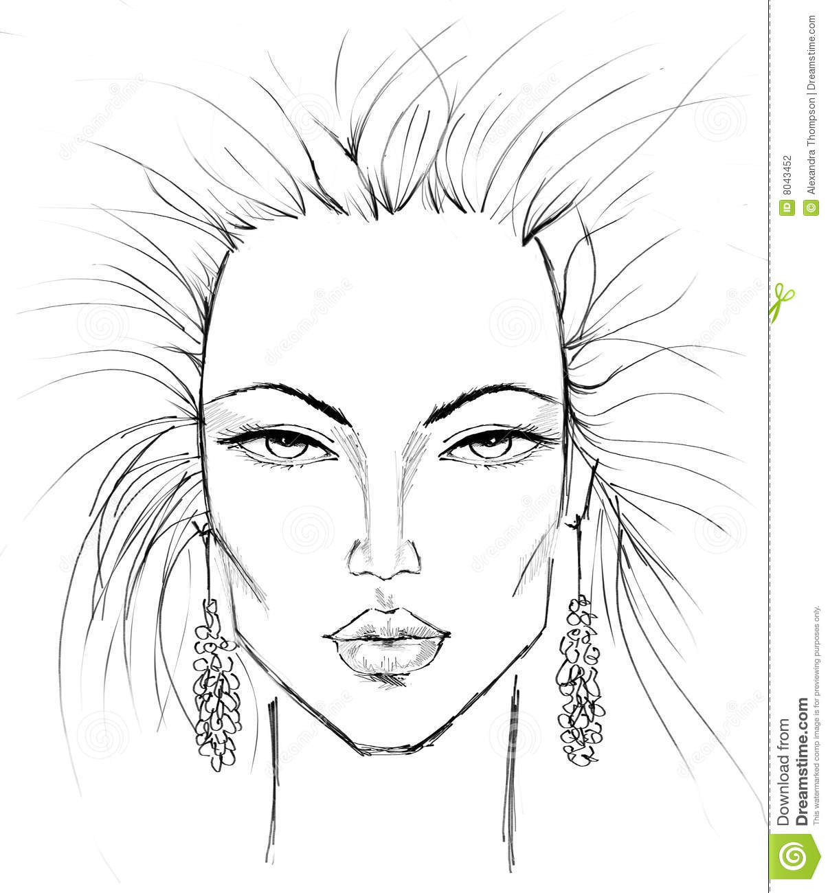 Makeup Template Stock Illustration. Illustration Of