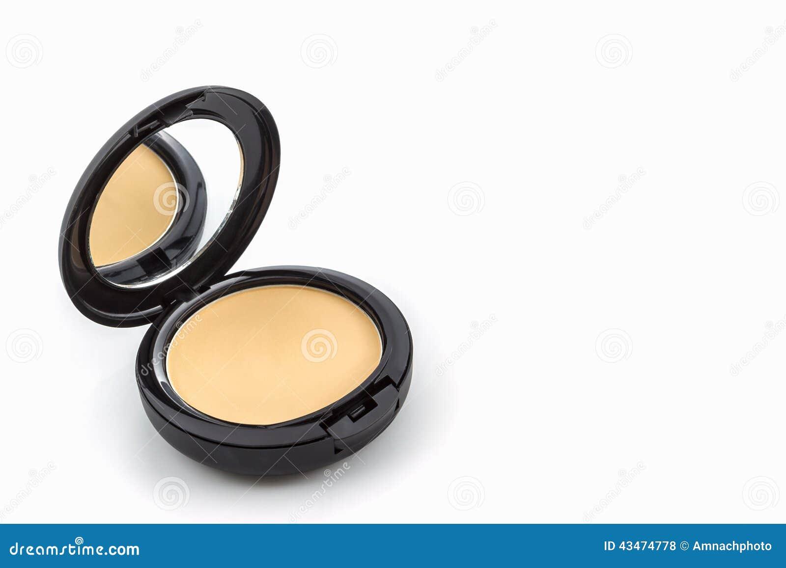 Makeup, twarz proszek w czarnej skrzynce