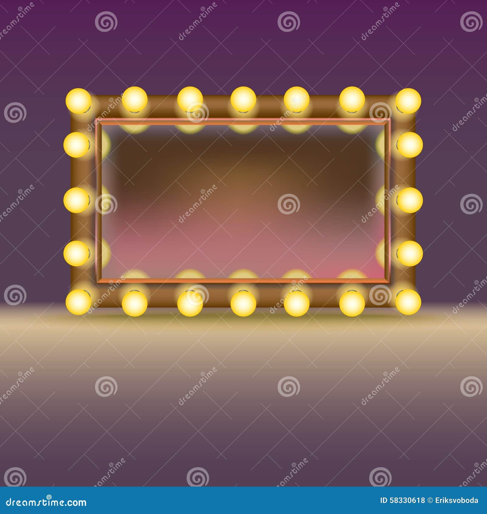 Makeupspegel med lampor
