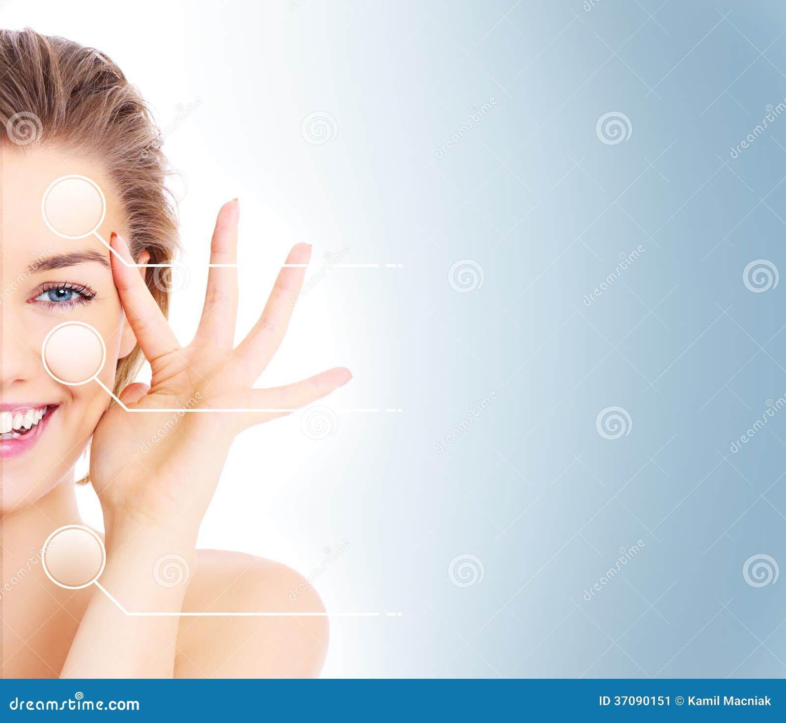 Download Makijaży skutki obraz stock. Obraz złożonej z atrakcyjny - 37090151