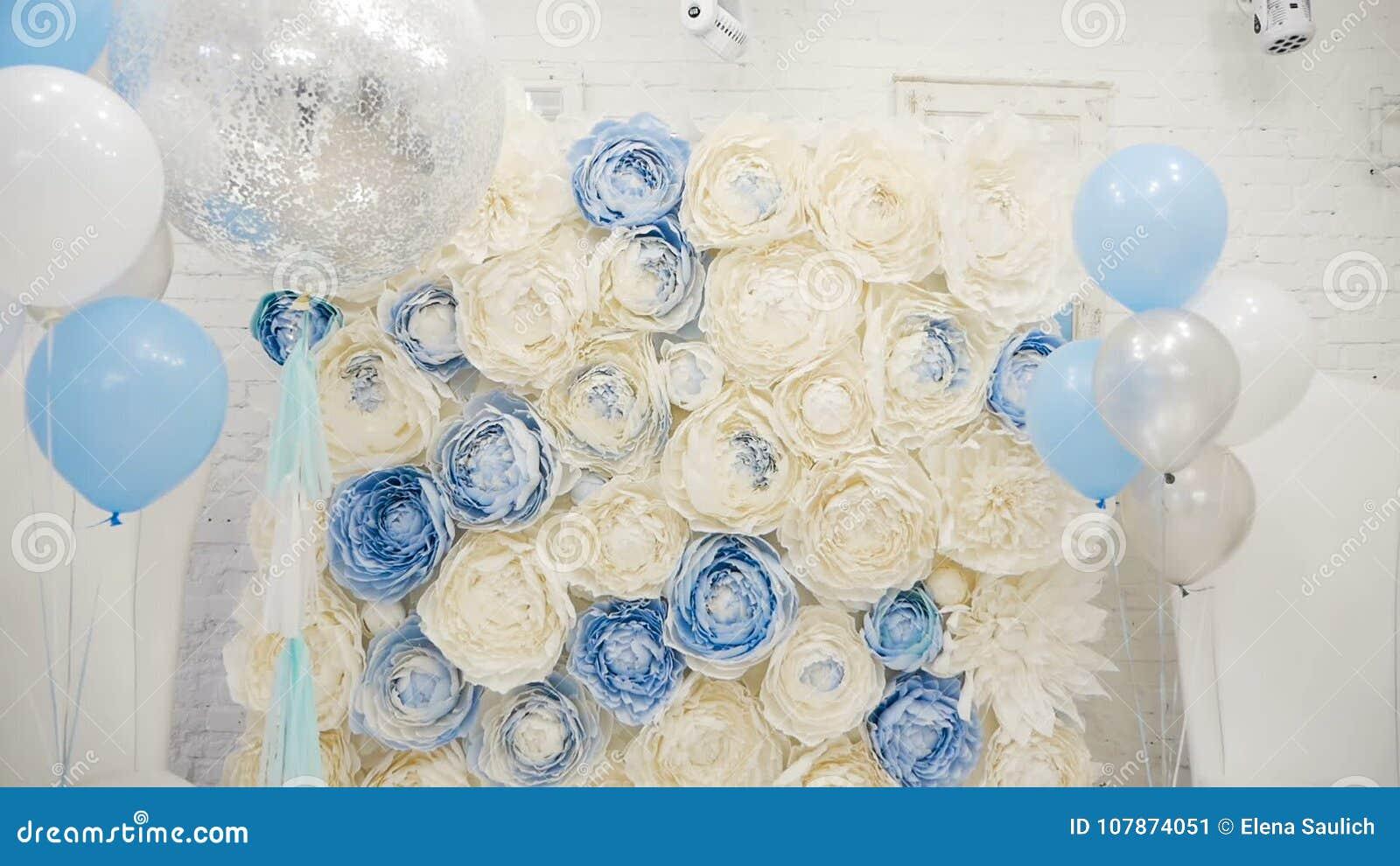 Making Children S Holiday Balls Blue Flowers Brick