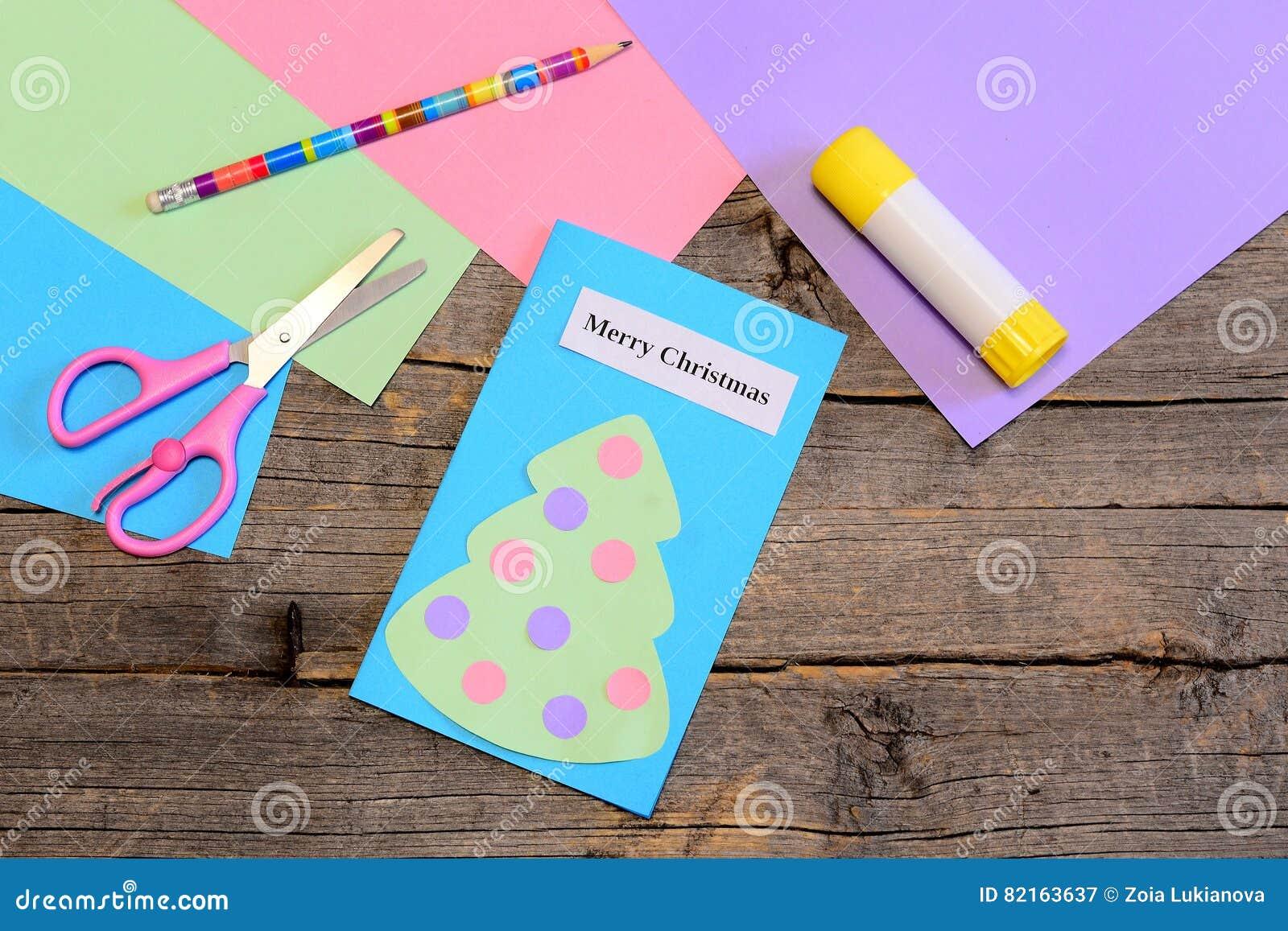 making a christmas greeting card step paper christmas greeting