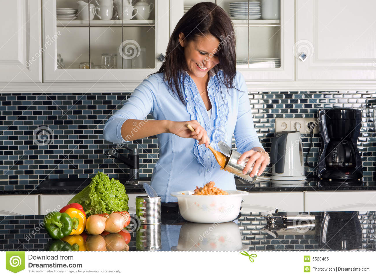 Making Dinner Stock Image Image Of Attractive Opener