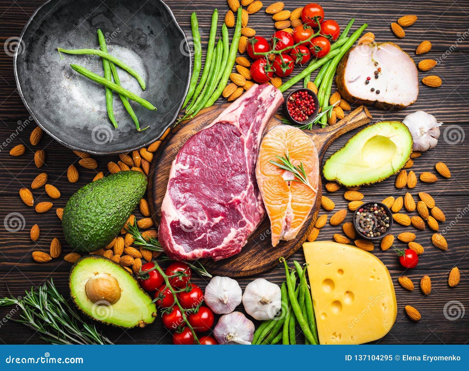 Keto diet foods stock image. Image of fork, nutrition ...