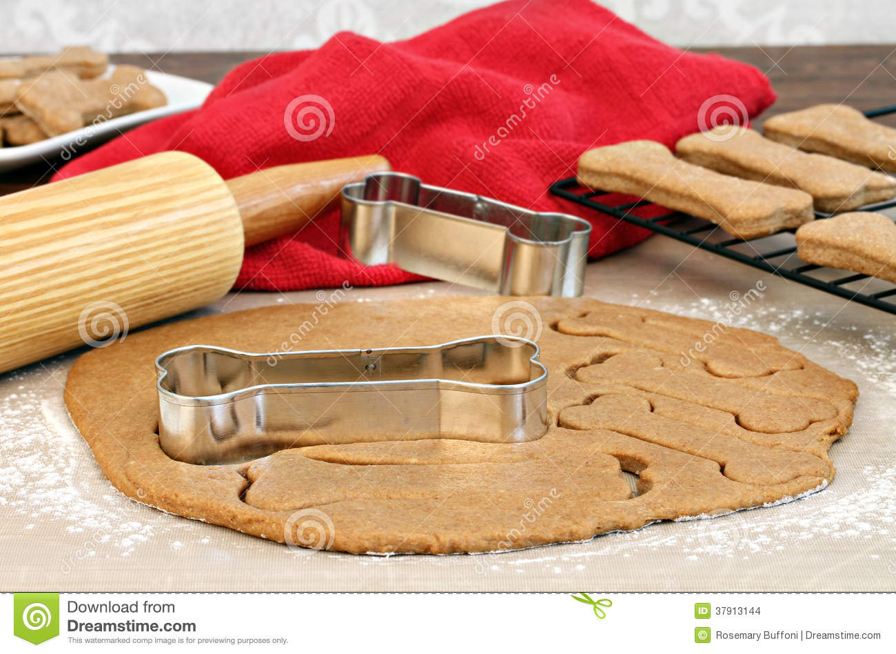 Making Dog Biscuits Stock Images Image 37913144