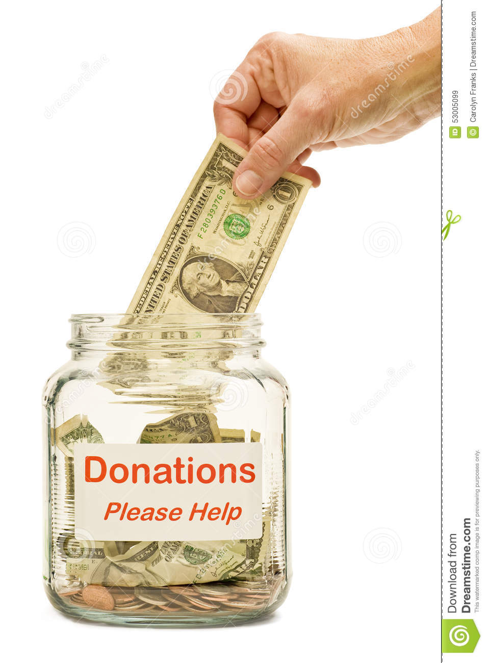 Making A Donation Stock Image Image Of Ideas Relief 53005099
