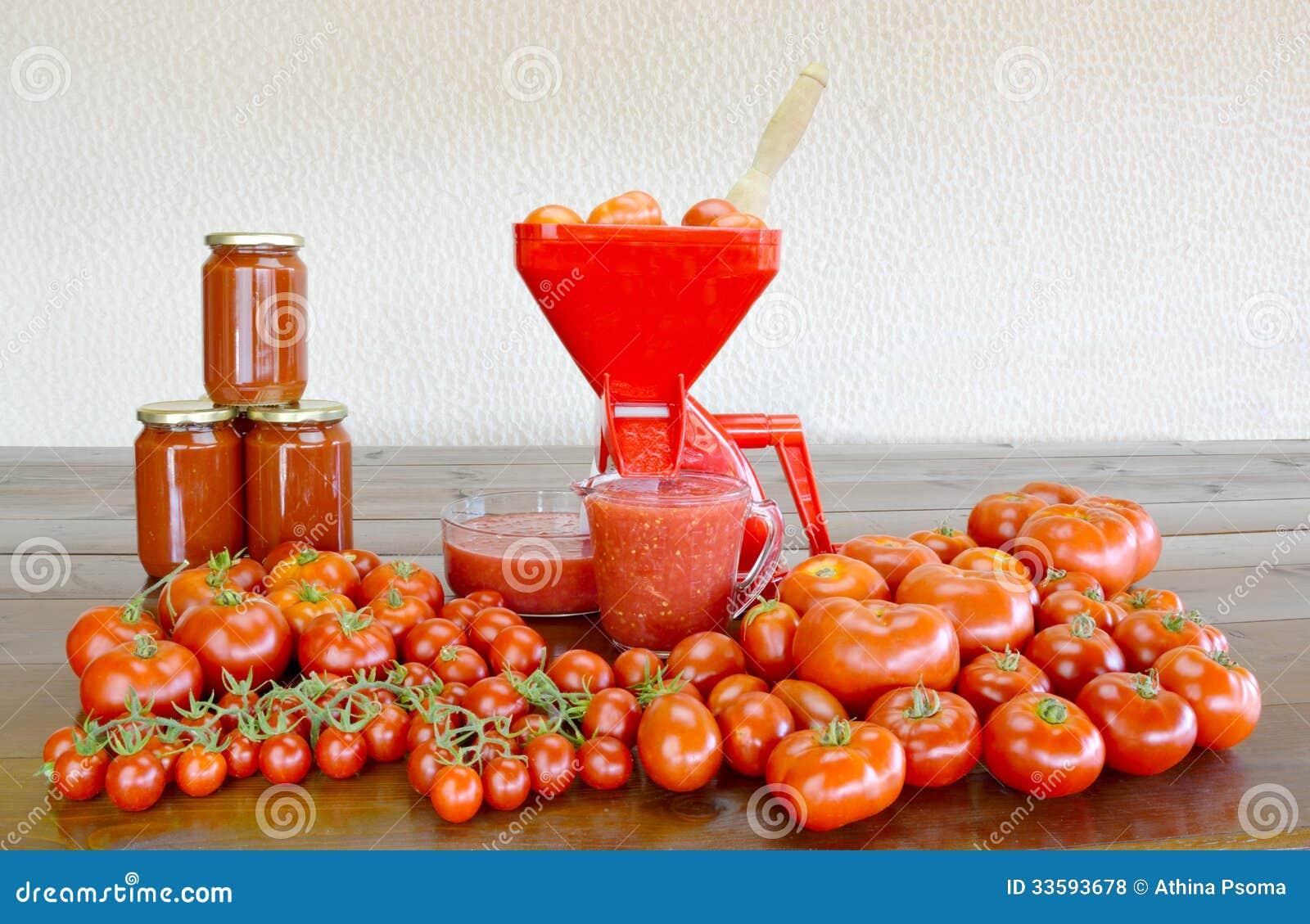 Making Homemade Tomato Sauce Royalty Free Stock Photos Image 33593678