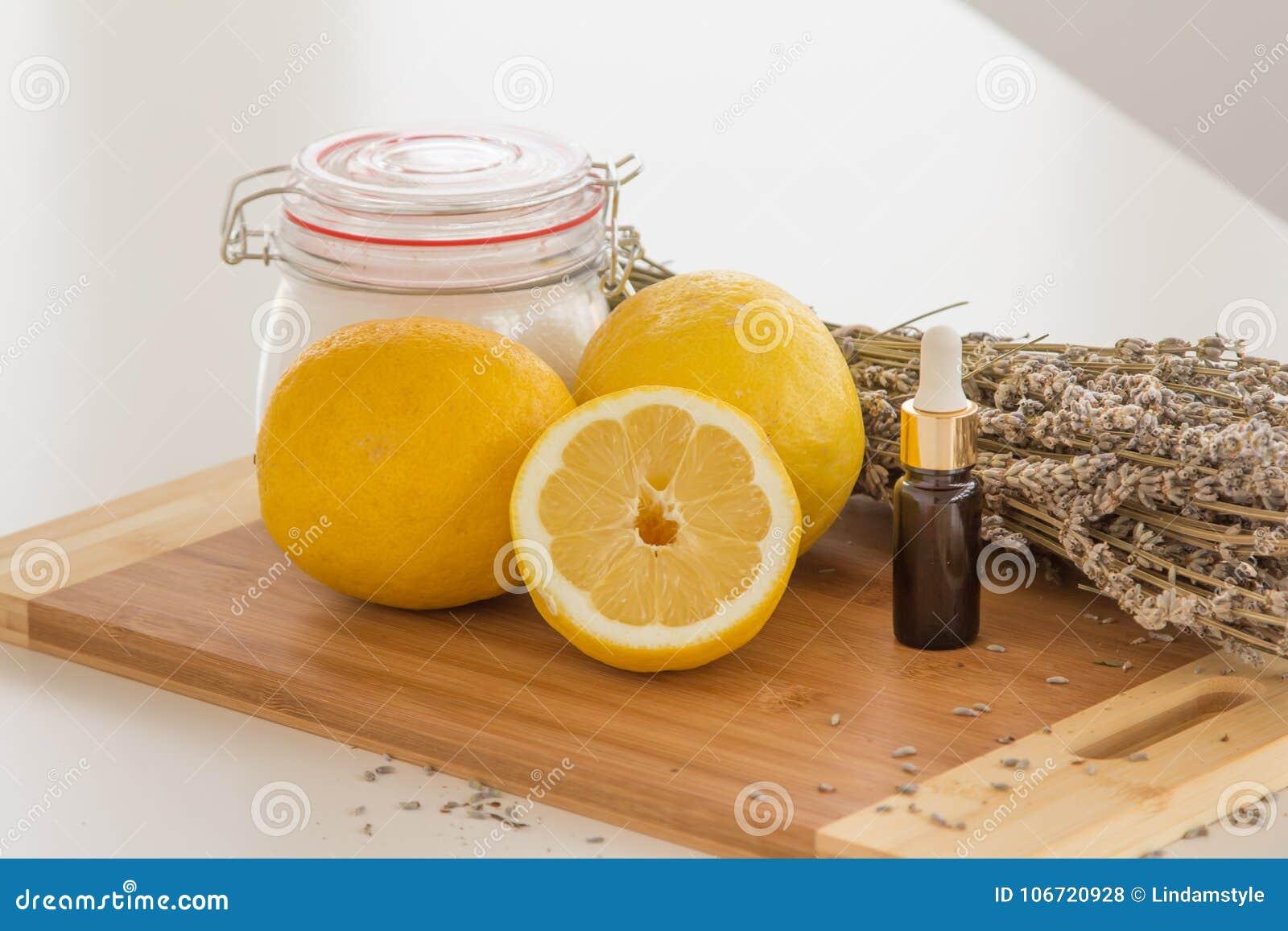 Lavender And Lemon Bath Salt Set Stock Photo - Image of