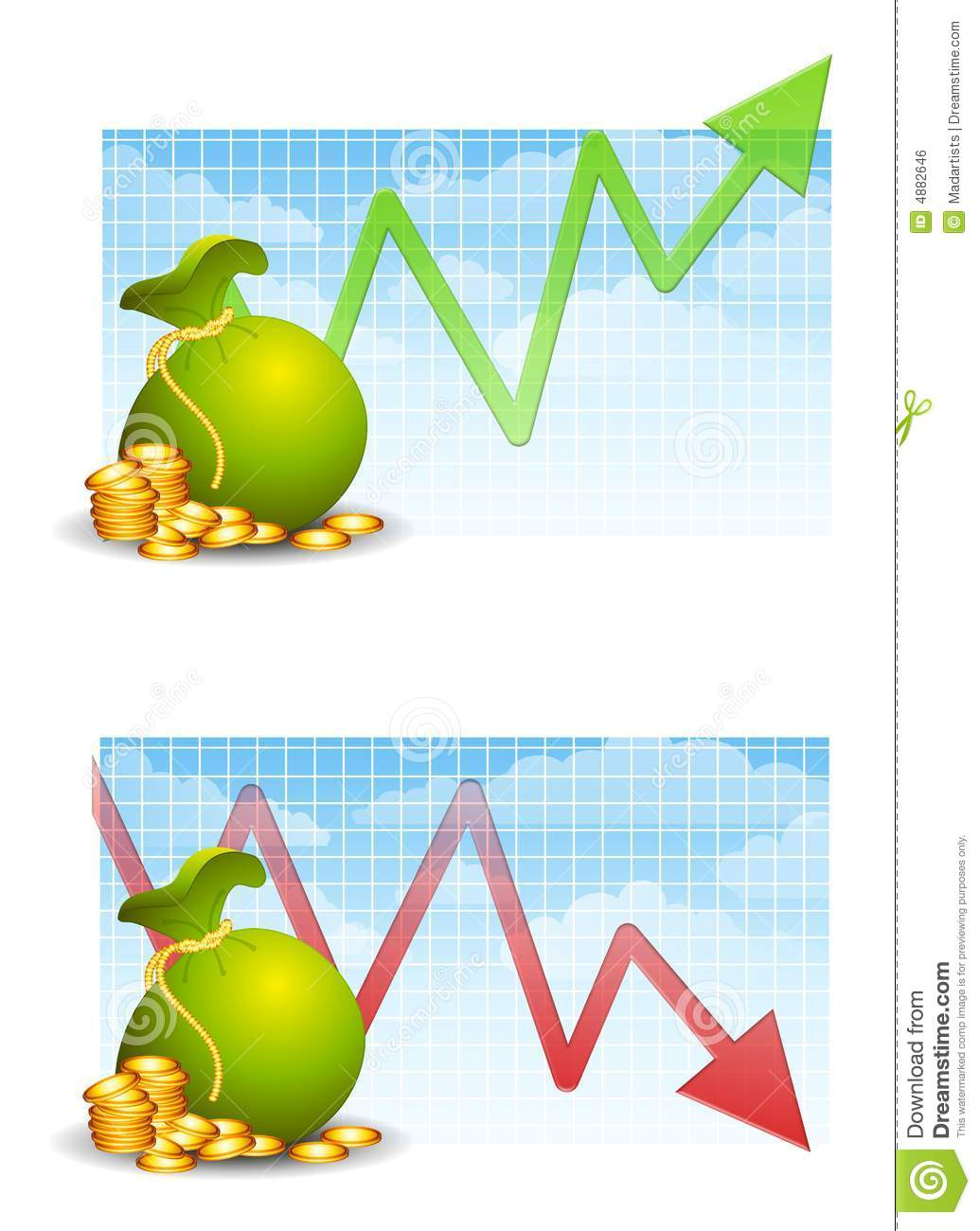 Making And Losing Money Royalty Free Stock Image - Image: 4882646
