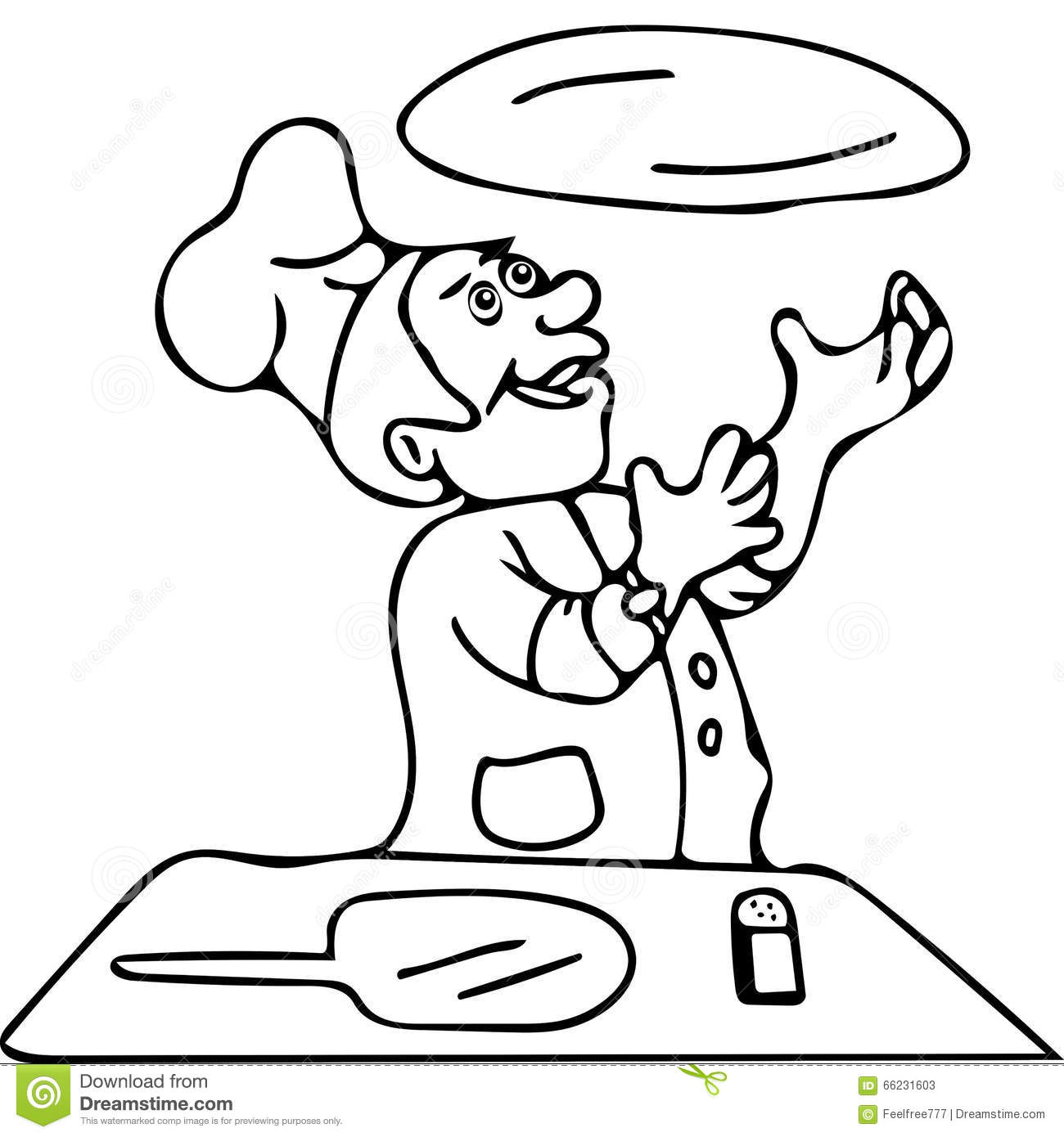 making pizza chef coloring page coloring pages