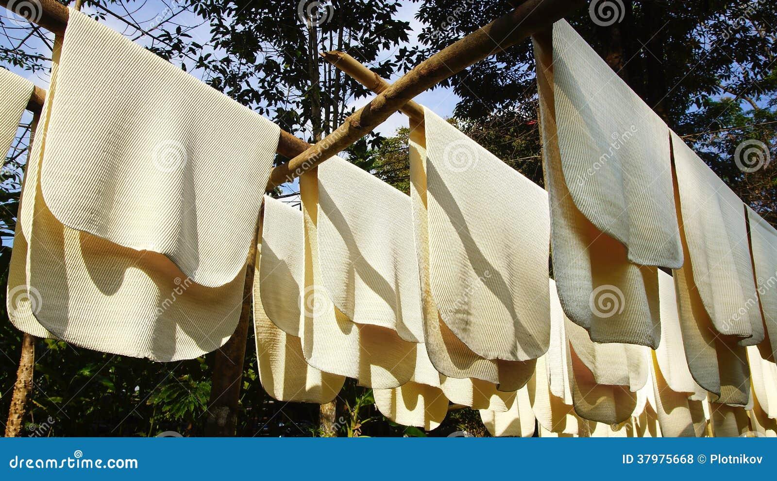 Making Rubber Sheets Process Royalty Free Stock Photos