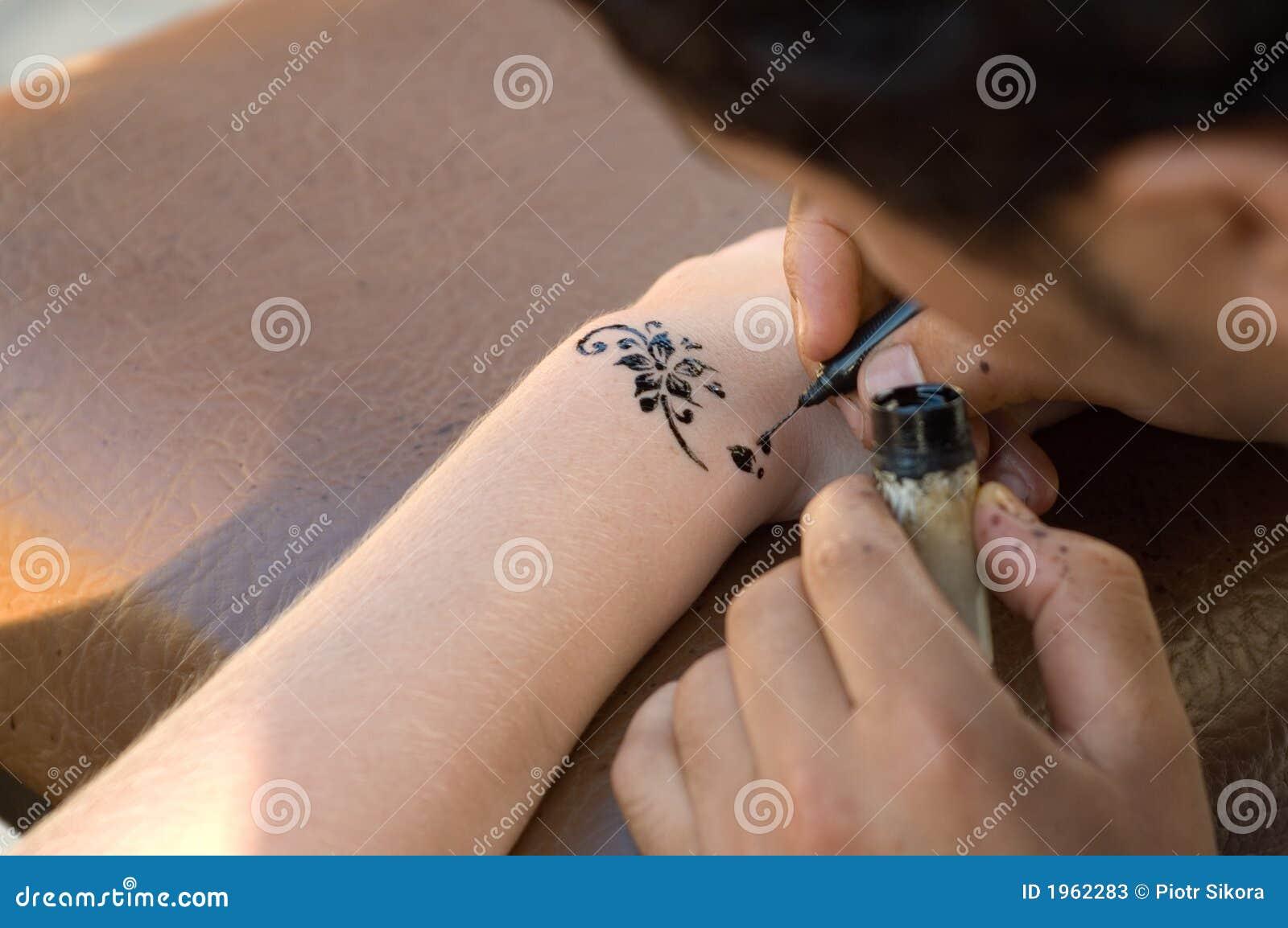 Making Temporary, Henna Tattoo Stock Image - Image of africa ...