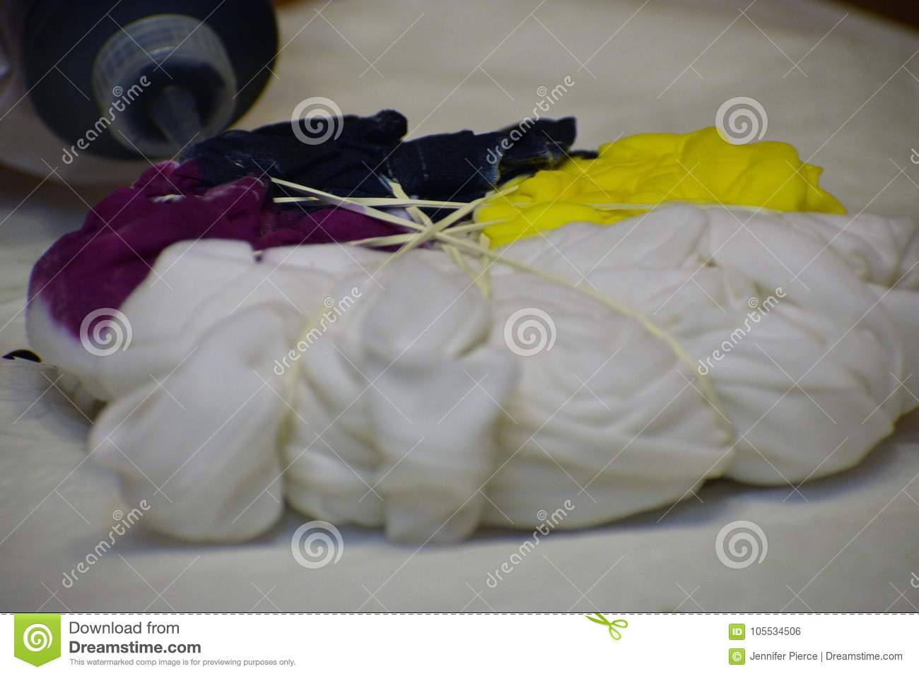 7db201c4 Making a tie-dye shirt stock photo. Image of culture - 105534506