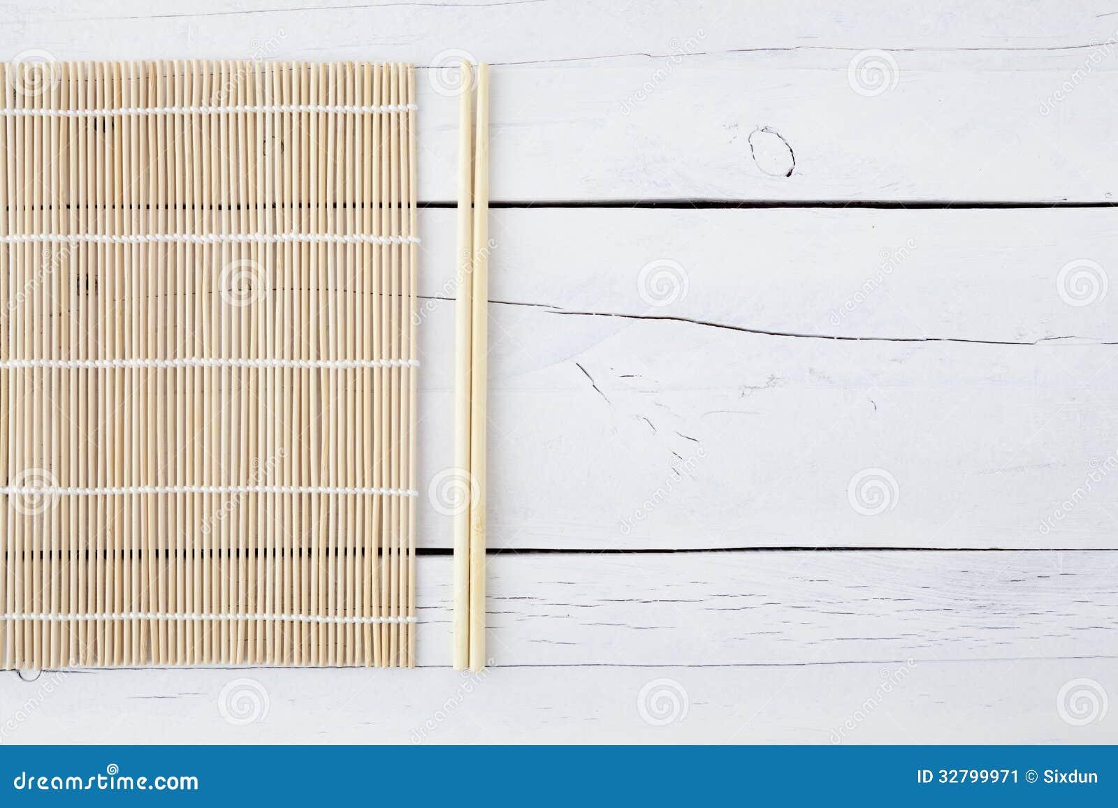 Nori On Makisu And Table Stock Image Cartoondealer Com