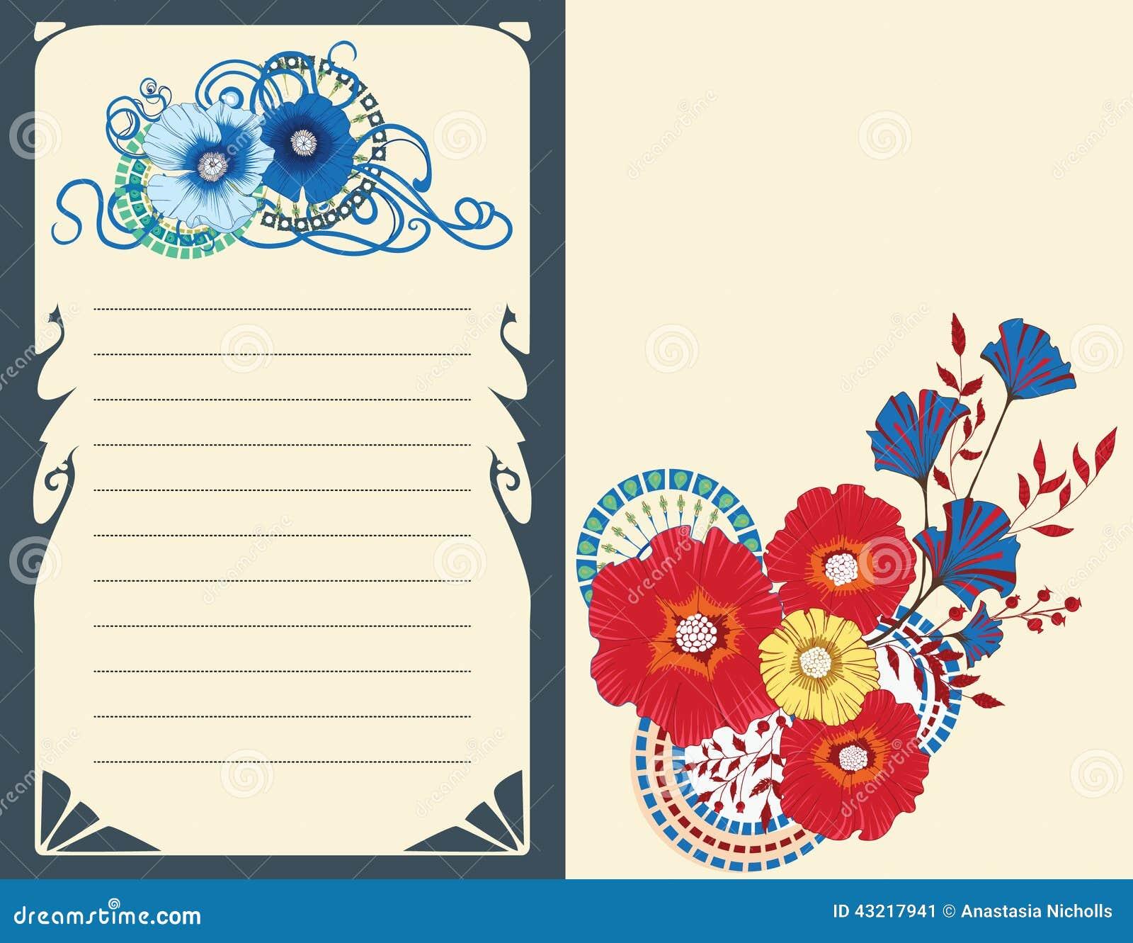 Makowa Kwiat Karta Zaproszenie Projekt Na Białym Tle 10 Eps