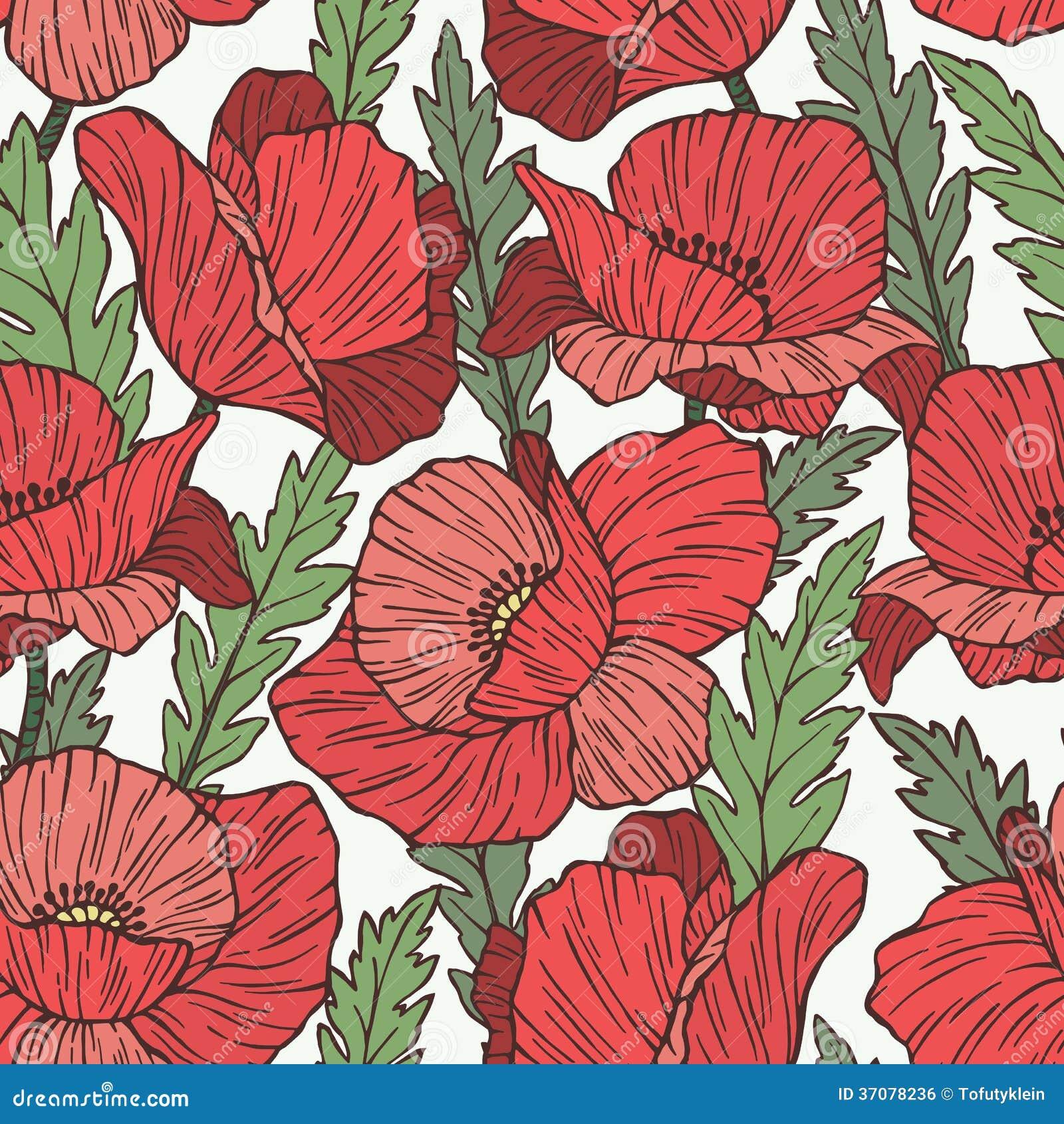 Download Makowy Bezszwowy Wektoru Wzór Ilustracja Wektor - Ilustracja złożonej z ogród, dekoruje: 37078236