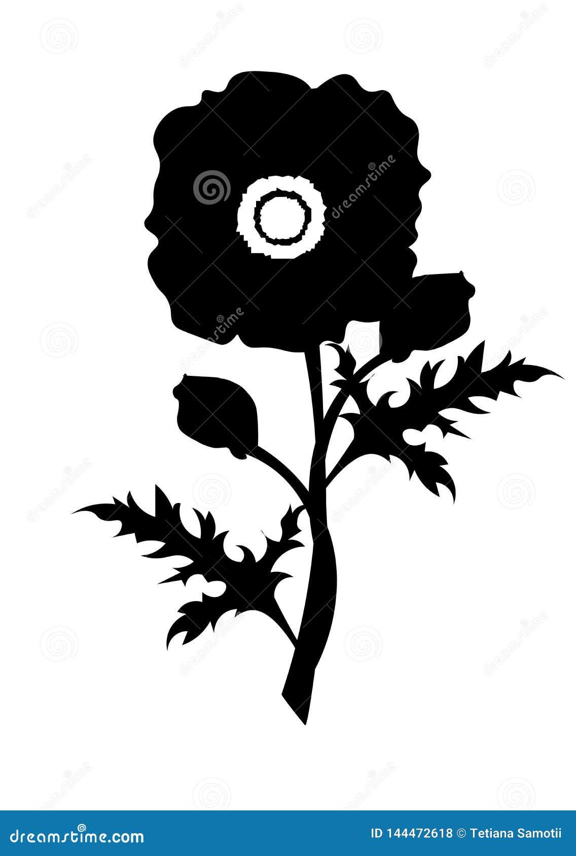 Makowy logo projekta wektoru szablon