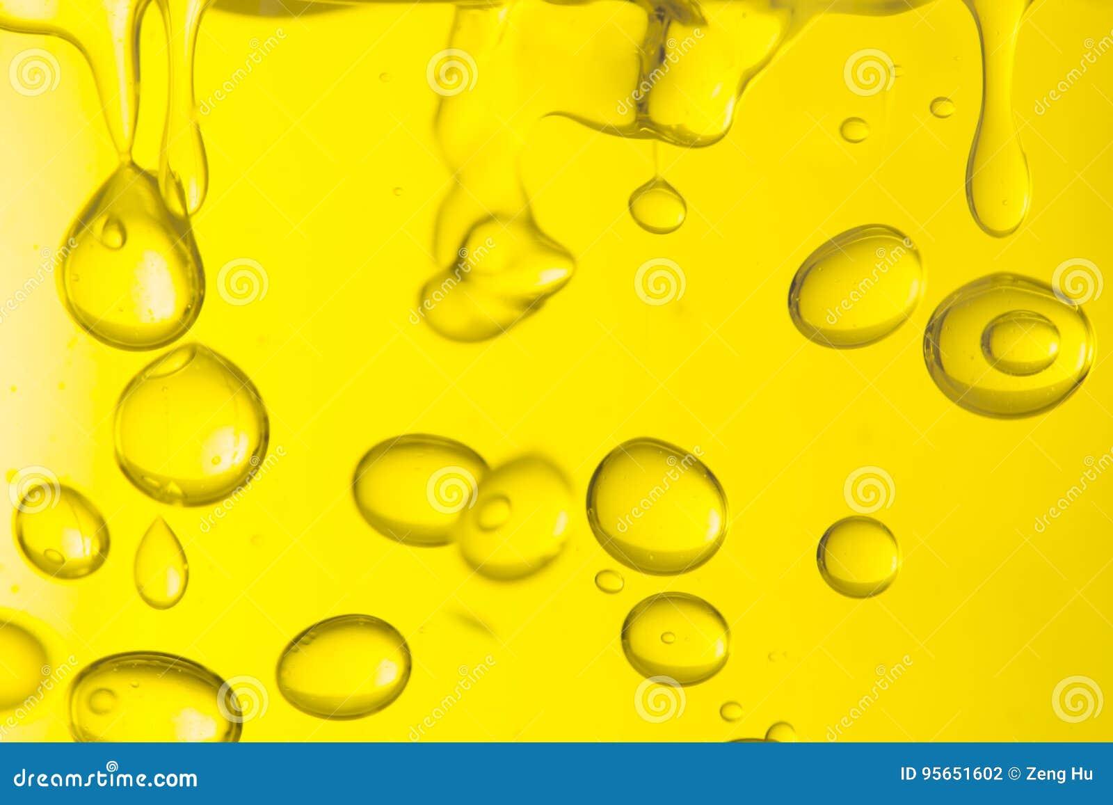 Makro av olje- droppar