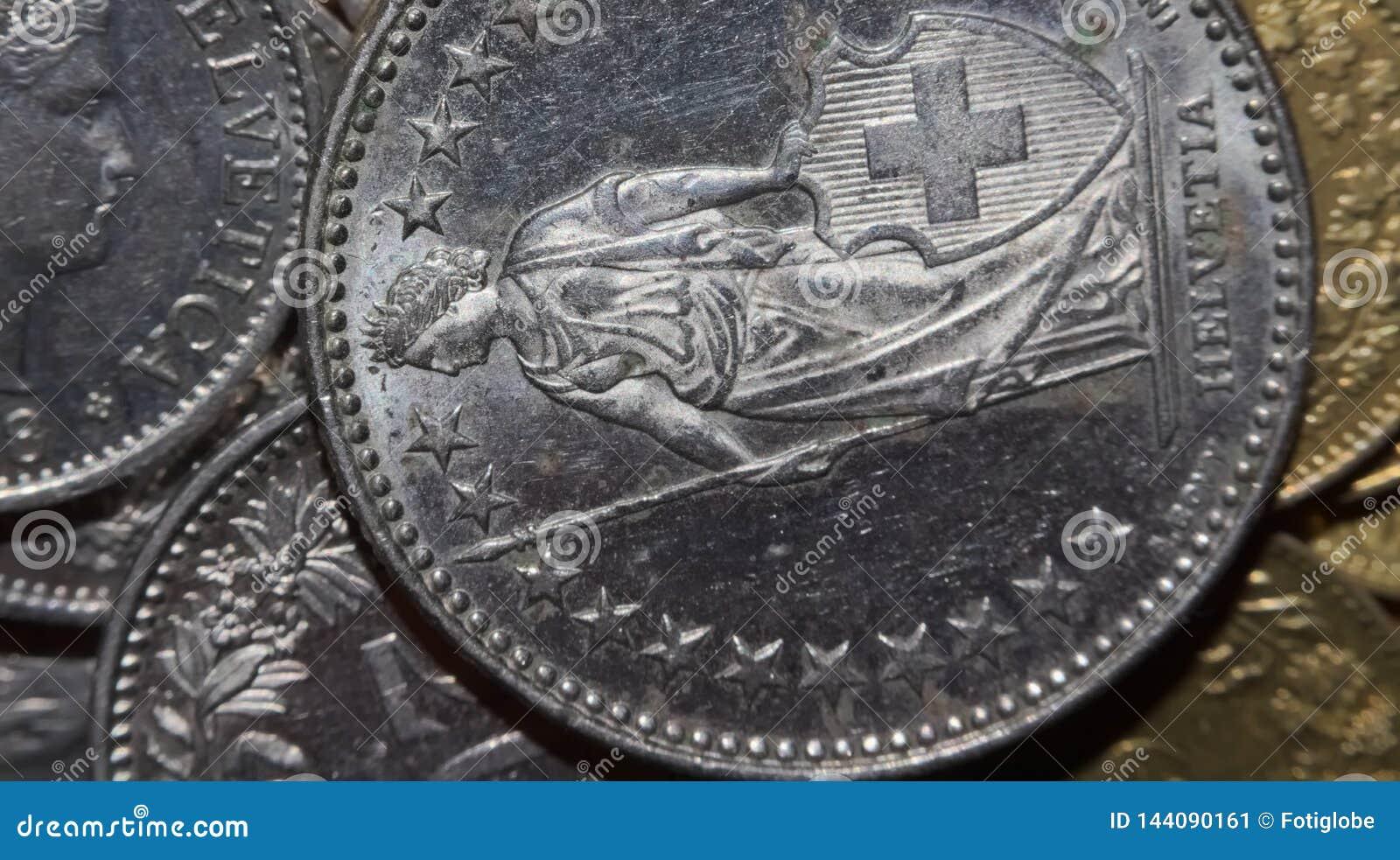 Makro av pengar (schweizisk franc