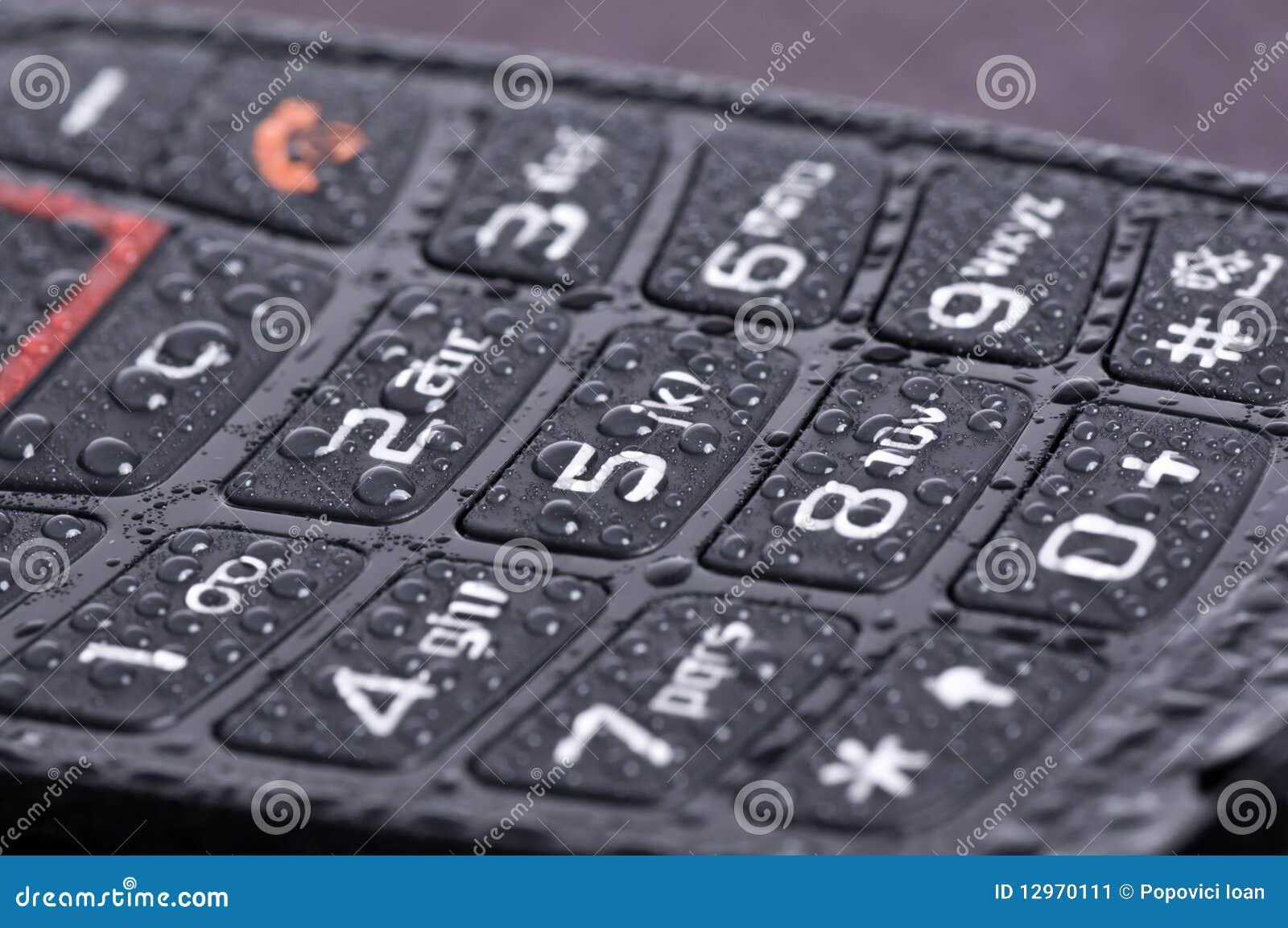 Makro des Telefontastaturblocks