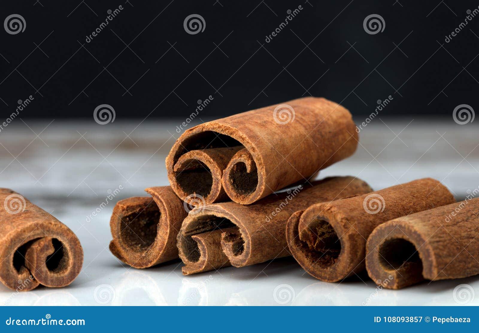 Makro för kanelbruna pinnar