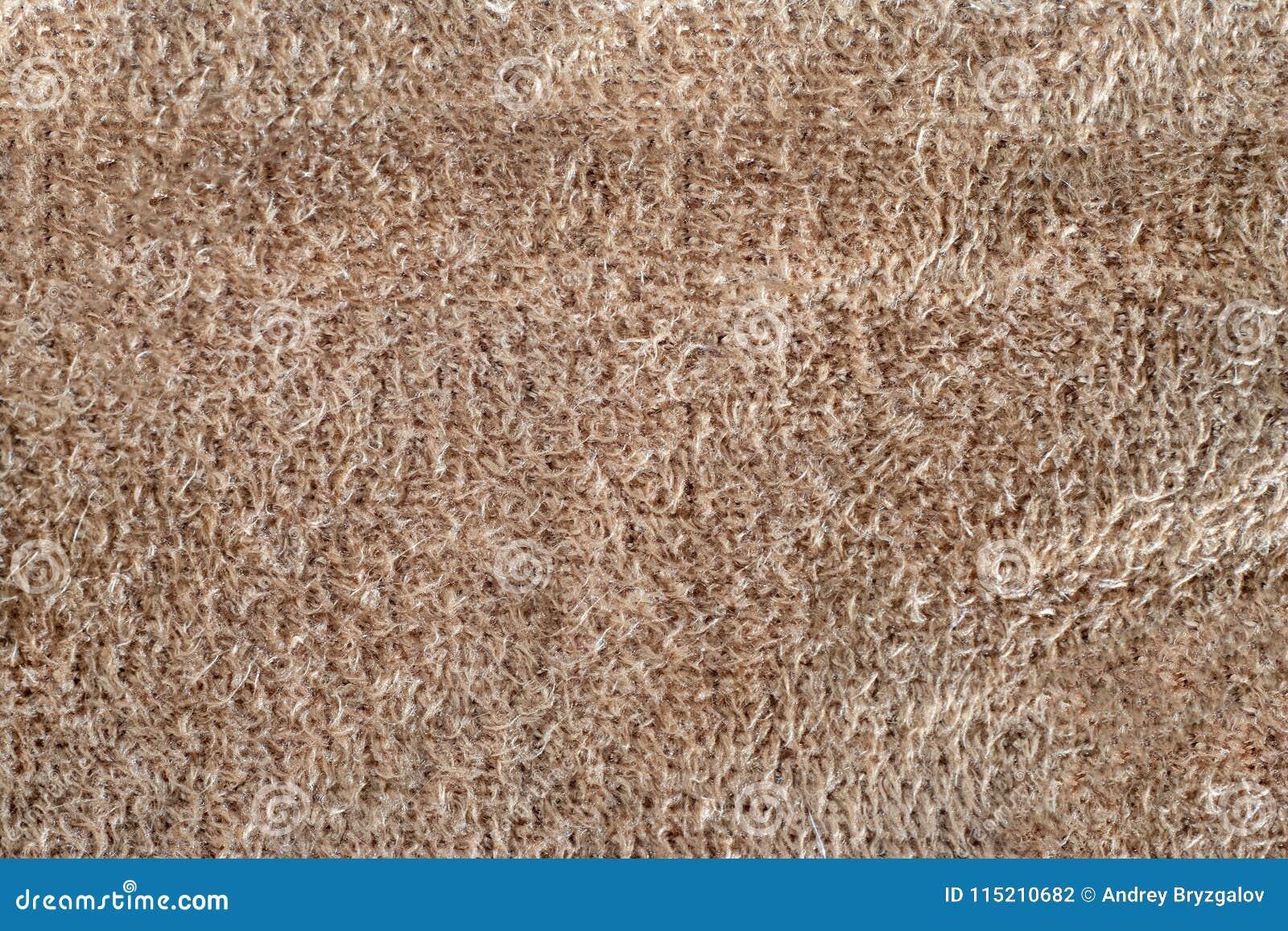 Makro- tekstura beżu zamszowy zbliżenia shammy miękki rzemienny tło