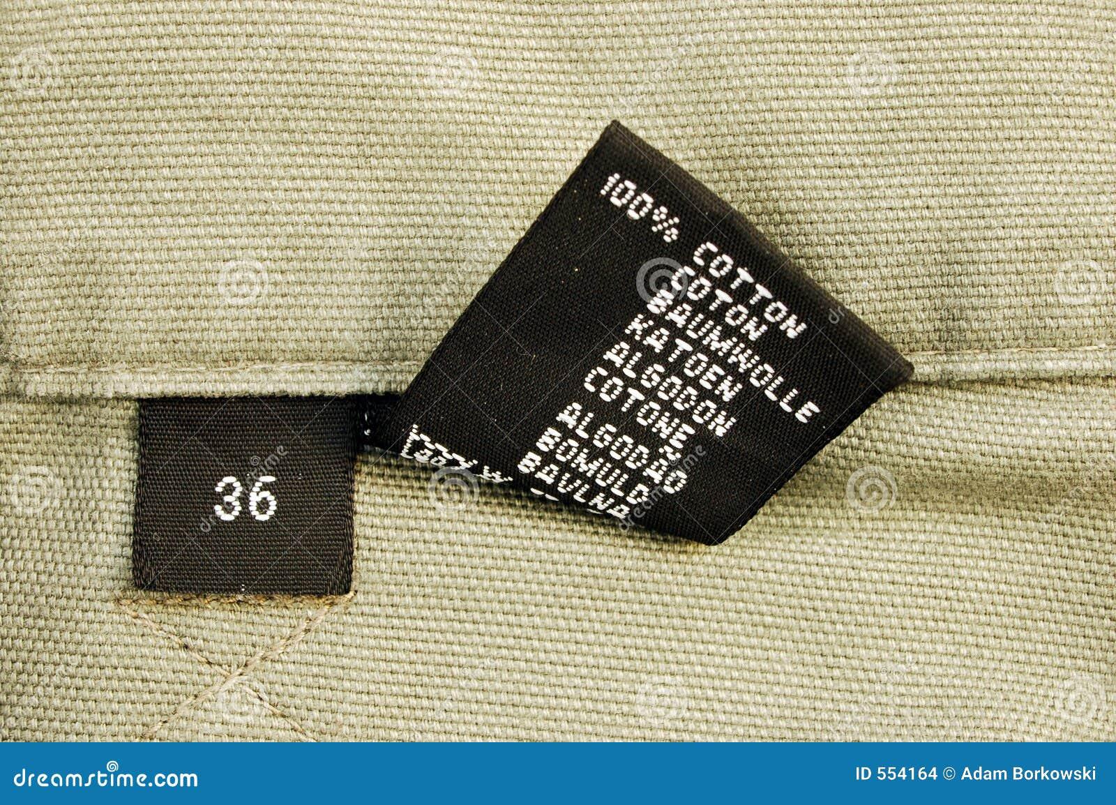 Makro von Kleidung - Größe 6