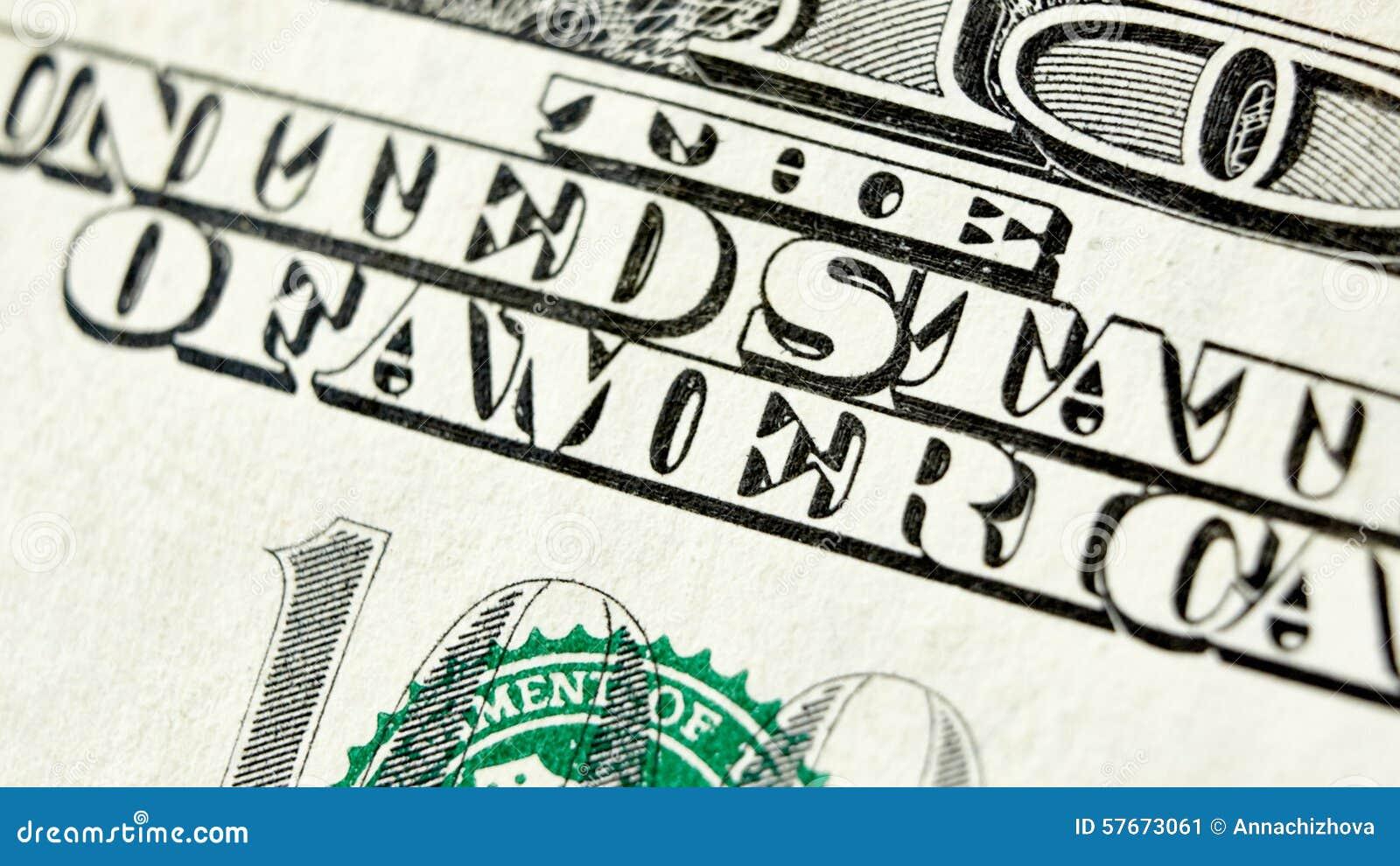 Makro- zakończenie up USA 100 dolarowy rachunek
