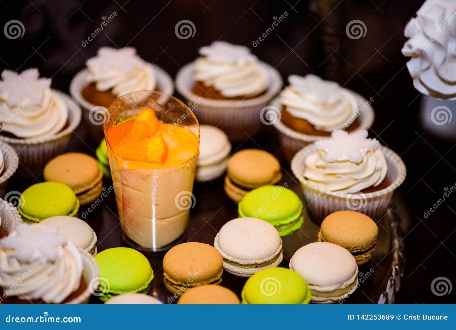 Makronen und Muffins