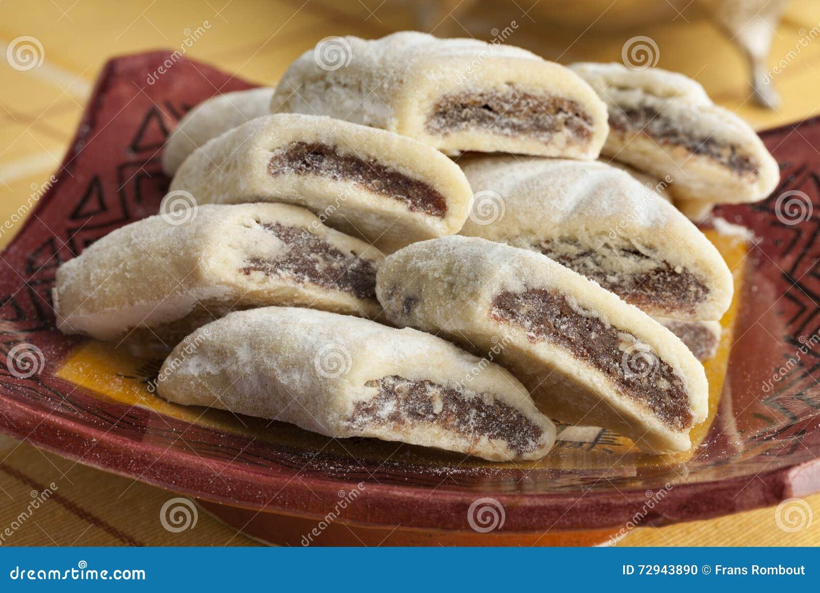 Makrout marroquino tradicional, cookies da data