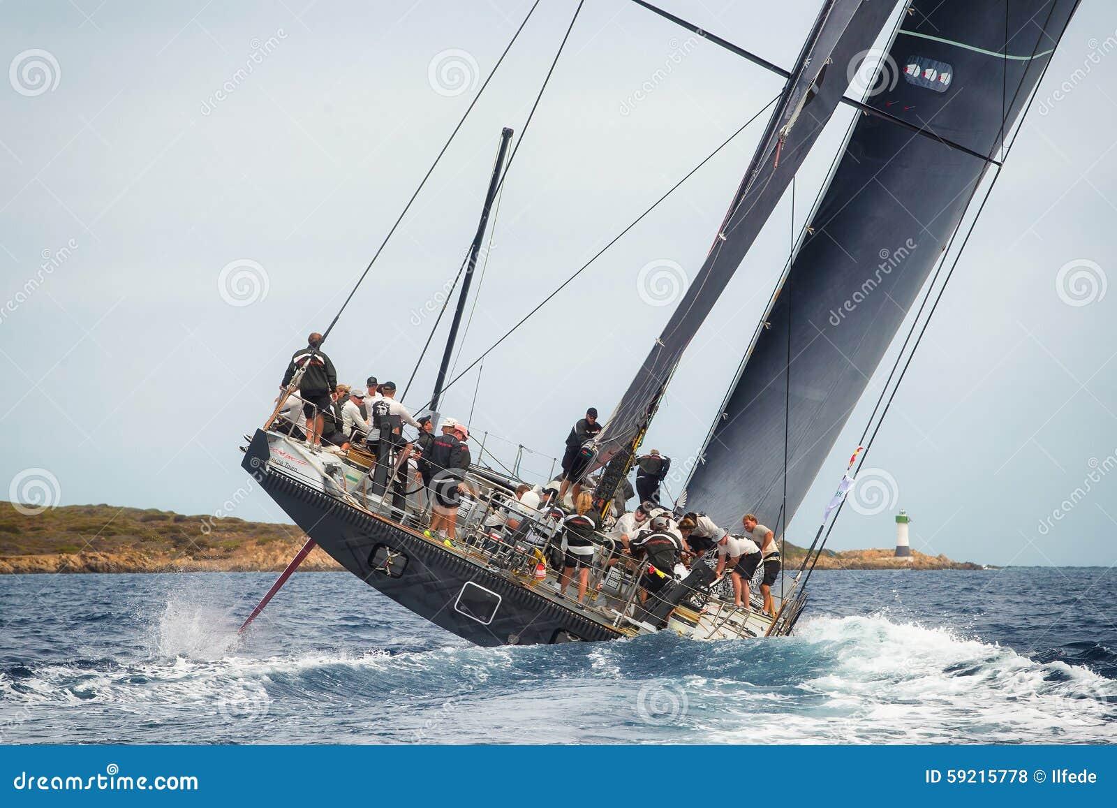 Maksia jachtu Rolex filiżanki 2015 żagla łódkowata rasa w Porto Cervo, Włochy