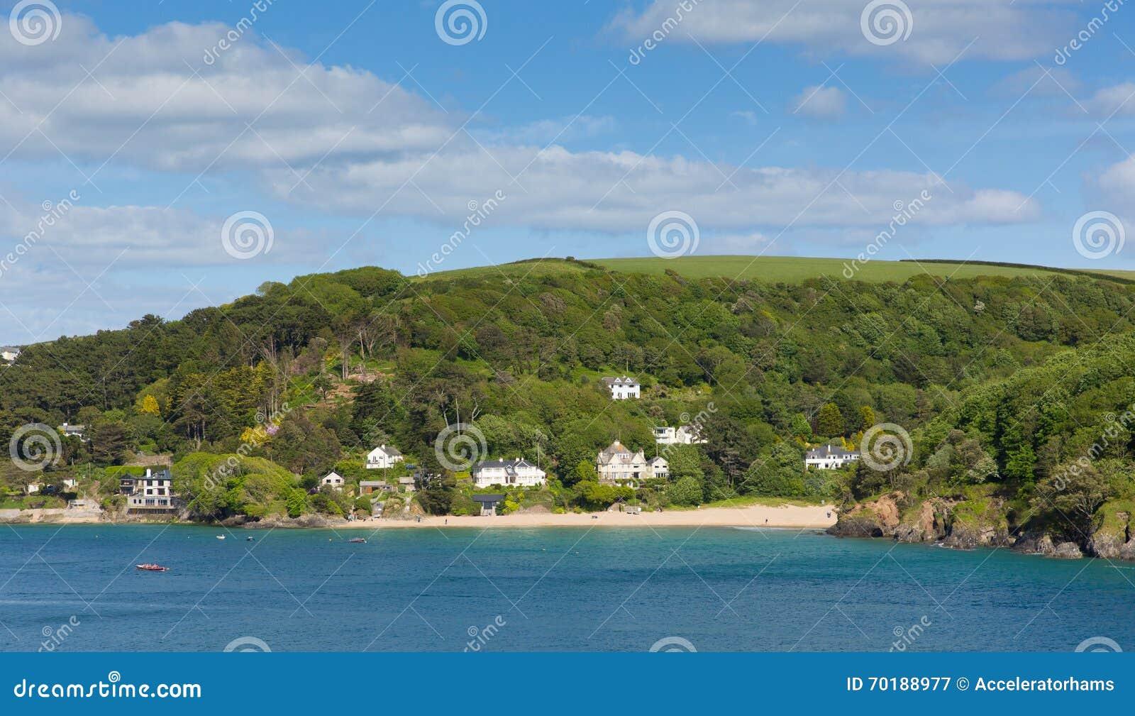 Mala fjärdstranden Salcombe Devon UK ett av flera härliga stränder