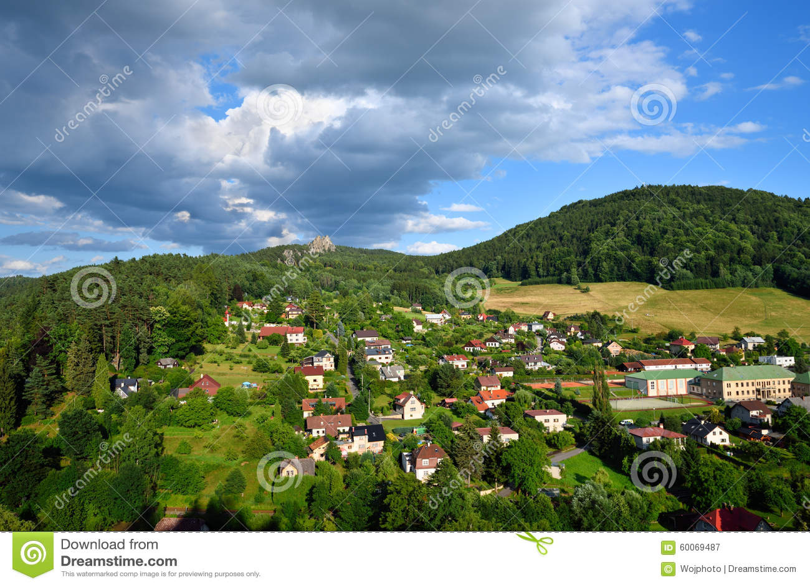 Mala Skala小村庄在漂泊天堂