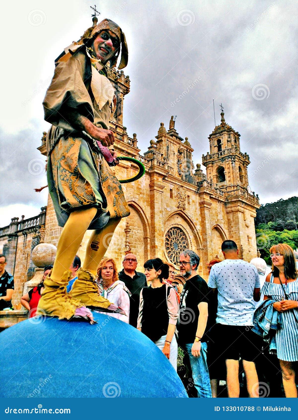 Malabar przedstawienie w Galicyjskim Średniowiecznym przyjęciu