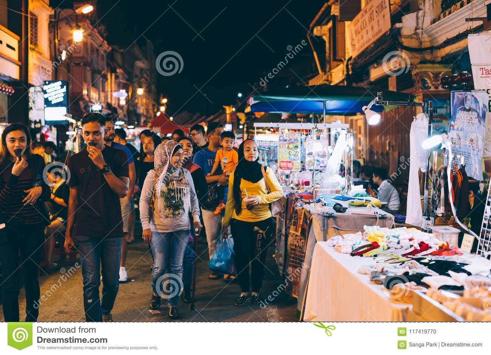 Jonker Street Night Market in Malacca, Malaysia