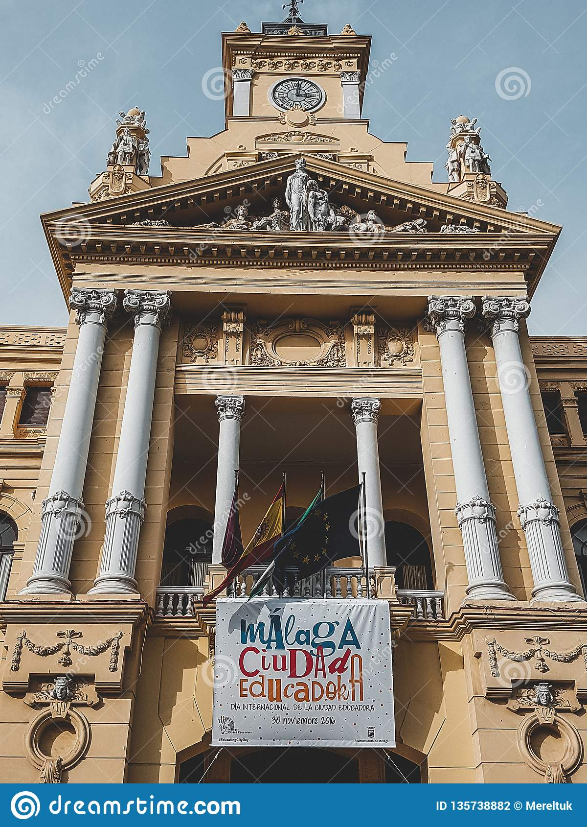 Malaga Espagne a tiré pendant un studytrip