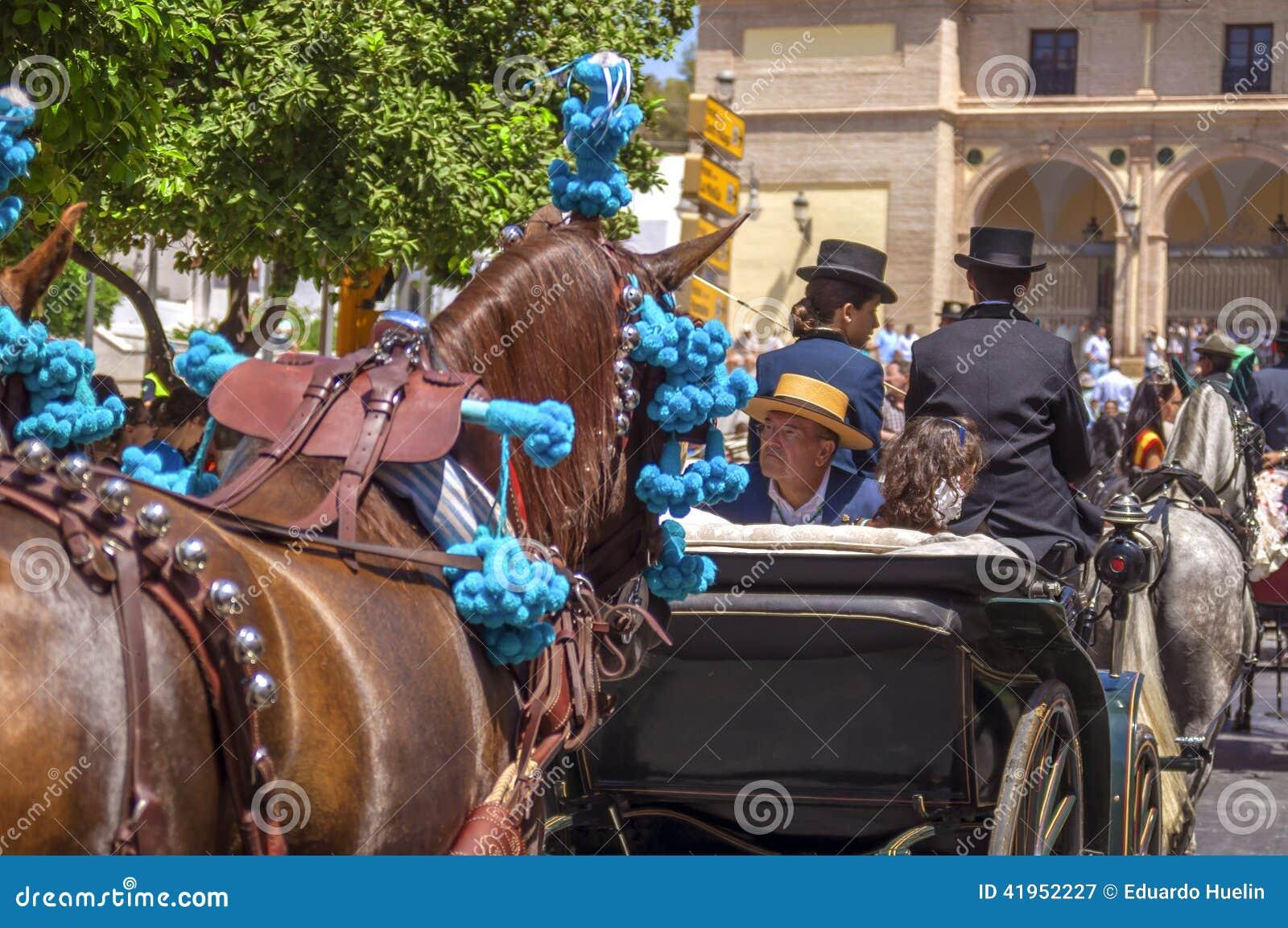MALAGA HISZPANIA, SIERPIEŃ, -, 14: Jeźdzowie i frachty przy Malaga