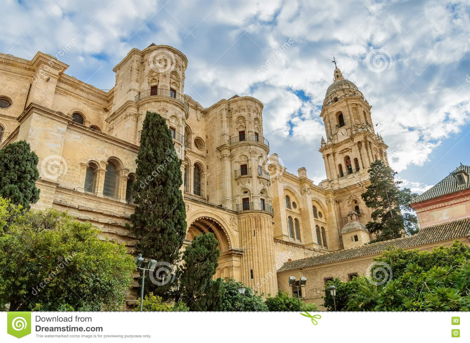 Malaga katedra w Andalusia, Hiszpania