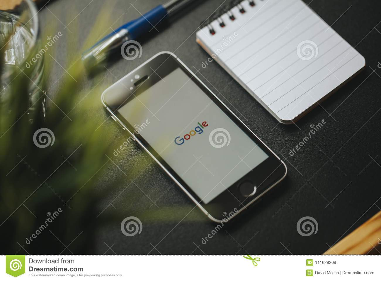MALAGA, SPAIN - MARCH 6, 2018: Google App In A Mobile Phone