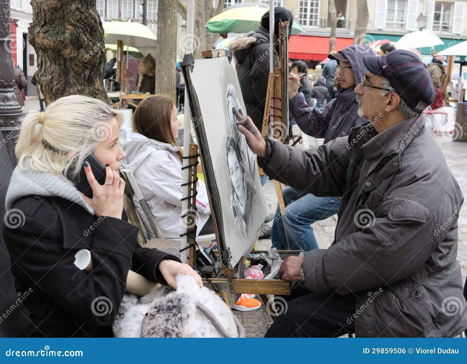 Miejsce Du Tertre Paryż