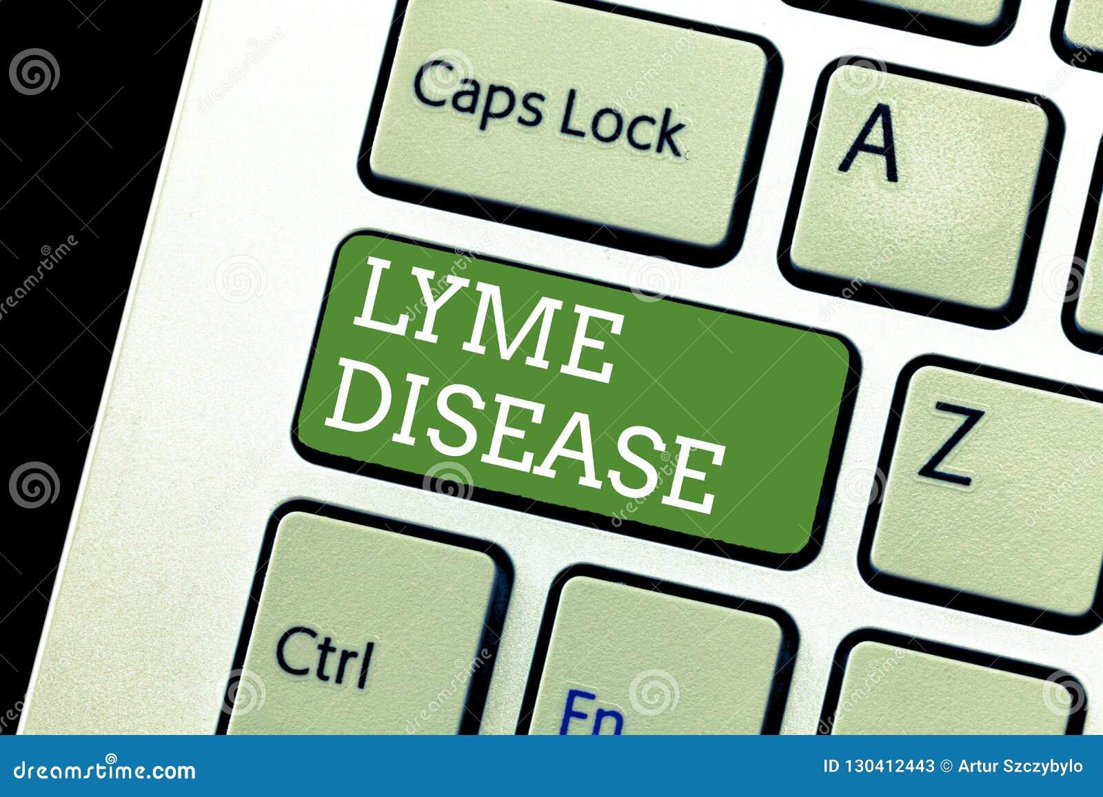 Malattia di Lyme di scrittura del testo della scrittura Forma di significato di concetto di artrite causata dai batteri che sono